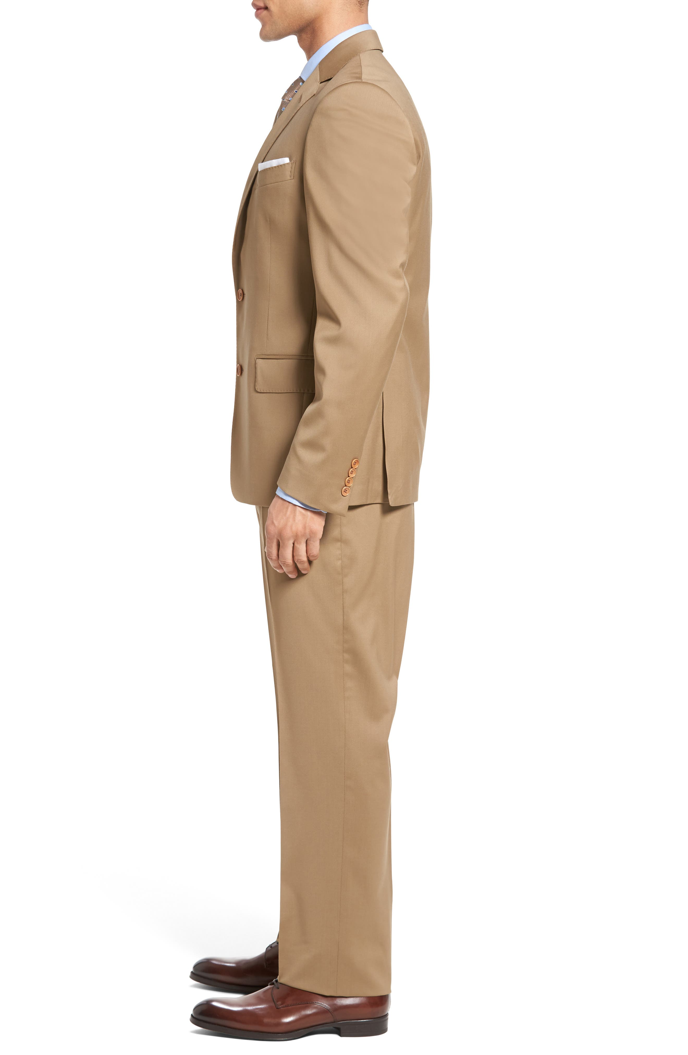 Classic Fit Solid Wool Suit,                             Alternate thumbnail 16, color,