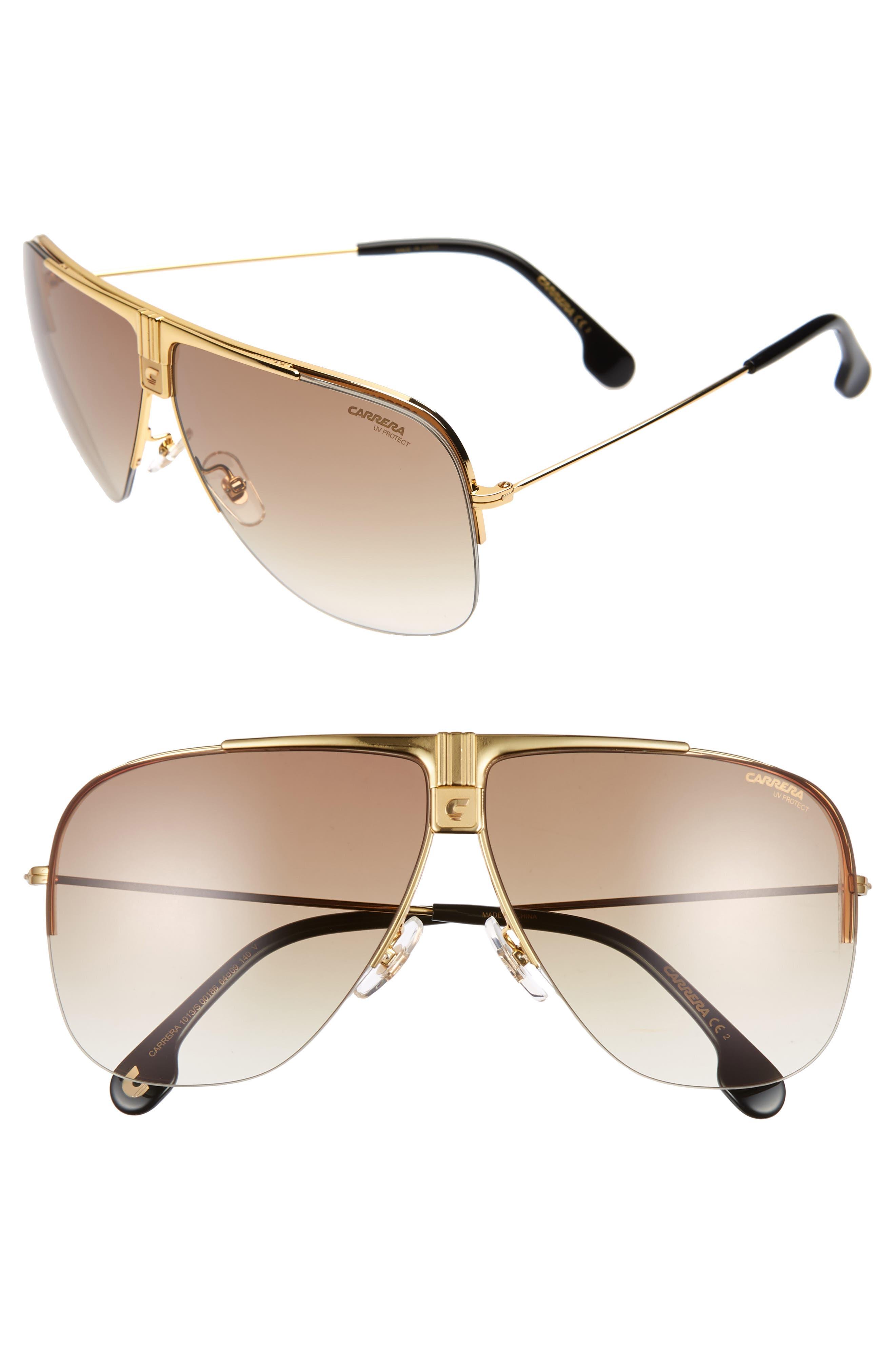 Carrera Eyewear Metal Aviator Sunglasses - Yellow Gold