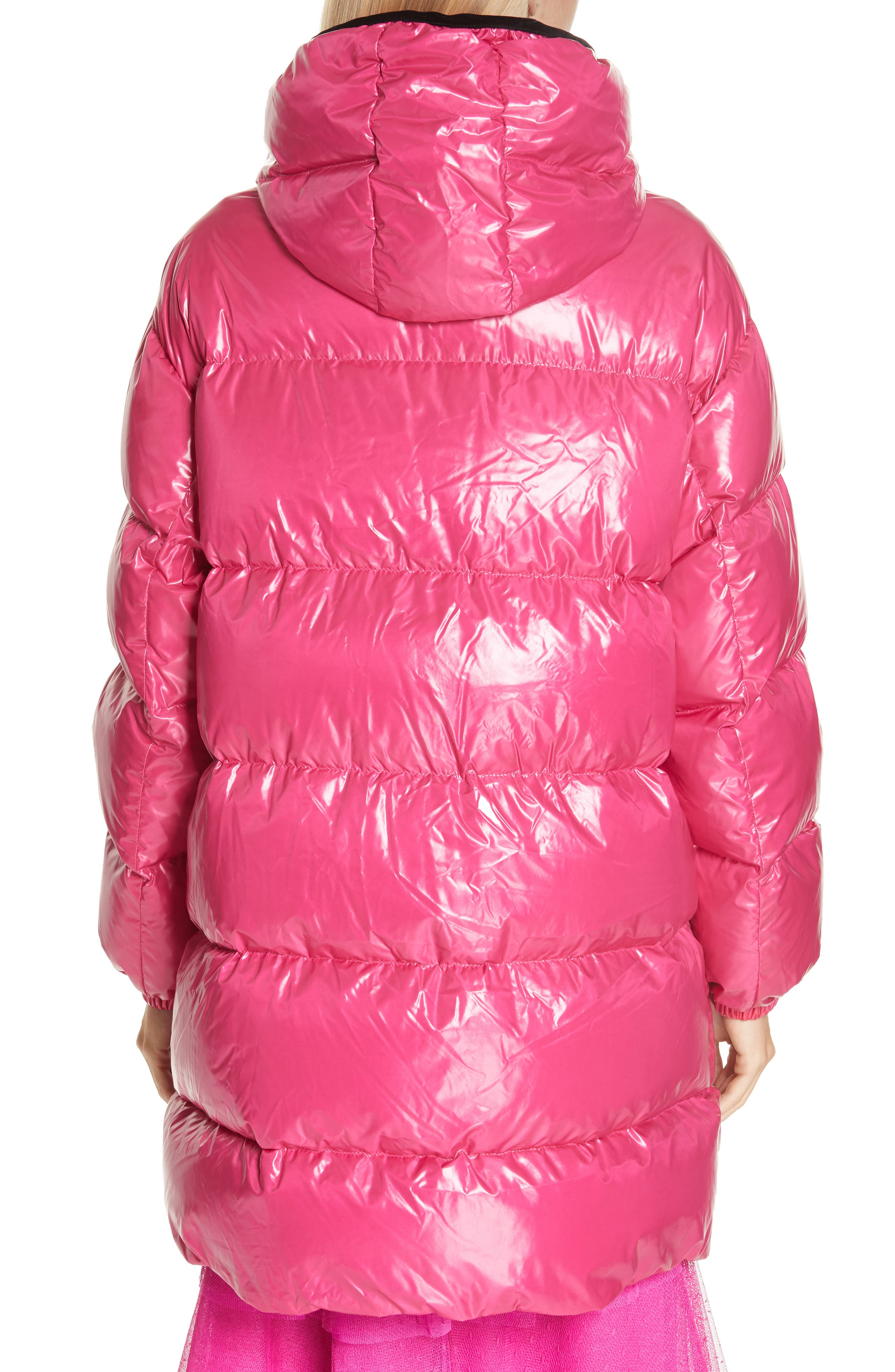 RED VALENTINO,                             Puffer Coat,                             Alternate thumbnail 2, color,                             650