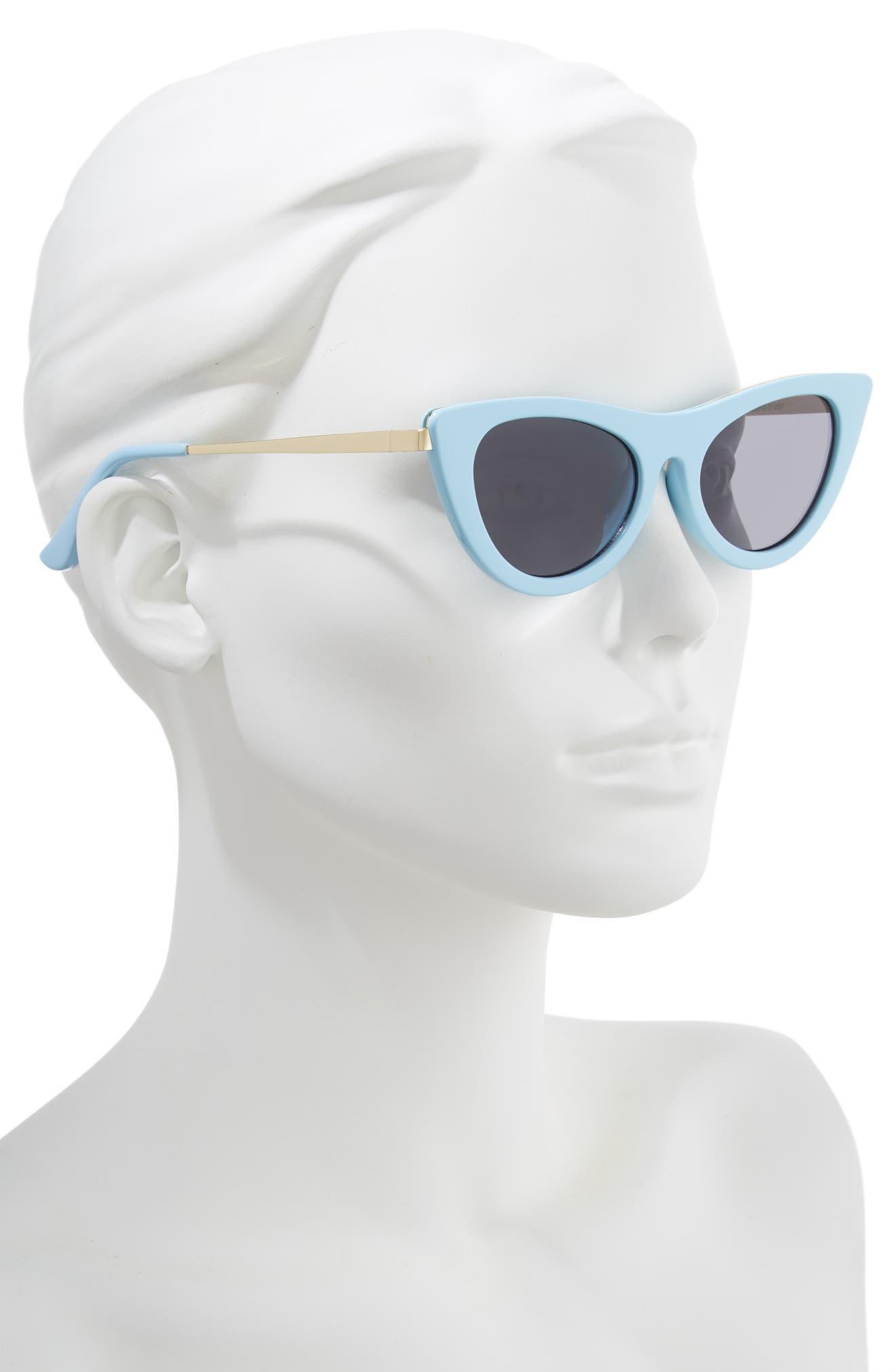 BP.,                             50mm Cat Eye Sunglasses,                             Alternate thumbnail 2, color,                             GOLD/ BLUE
