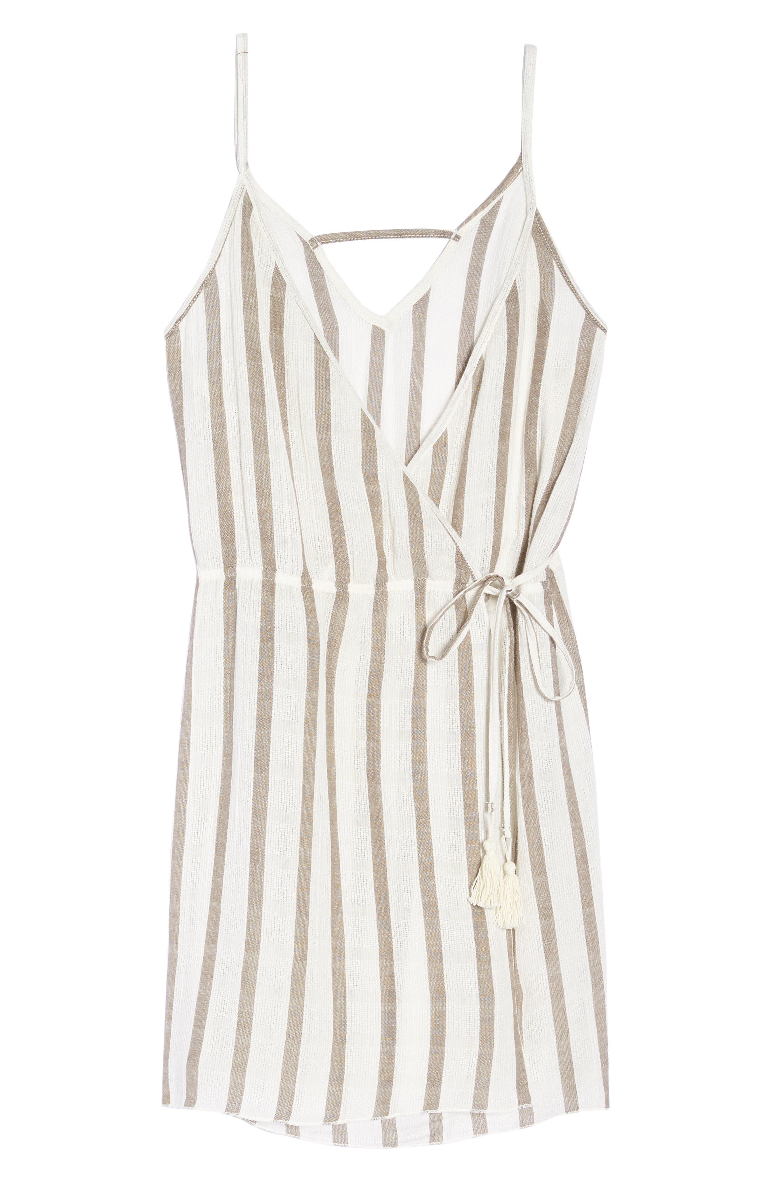 Serengeti Cover-Up Wrap Dress,                             Alternate thumbnail 6, color,                             NATURAL
