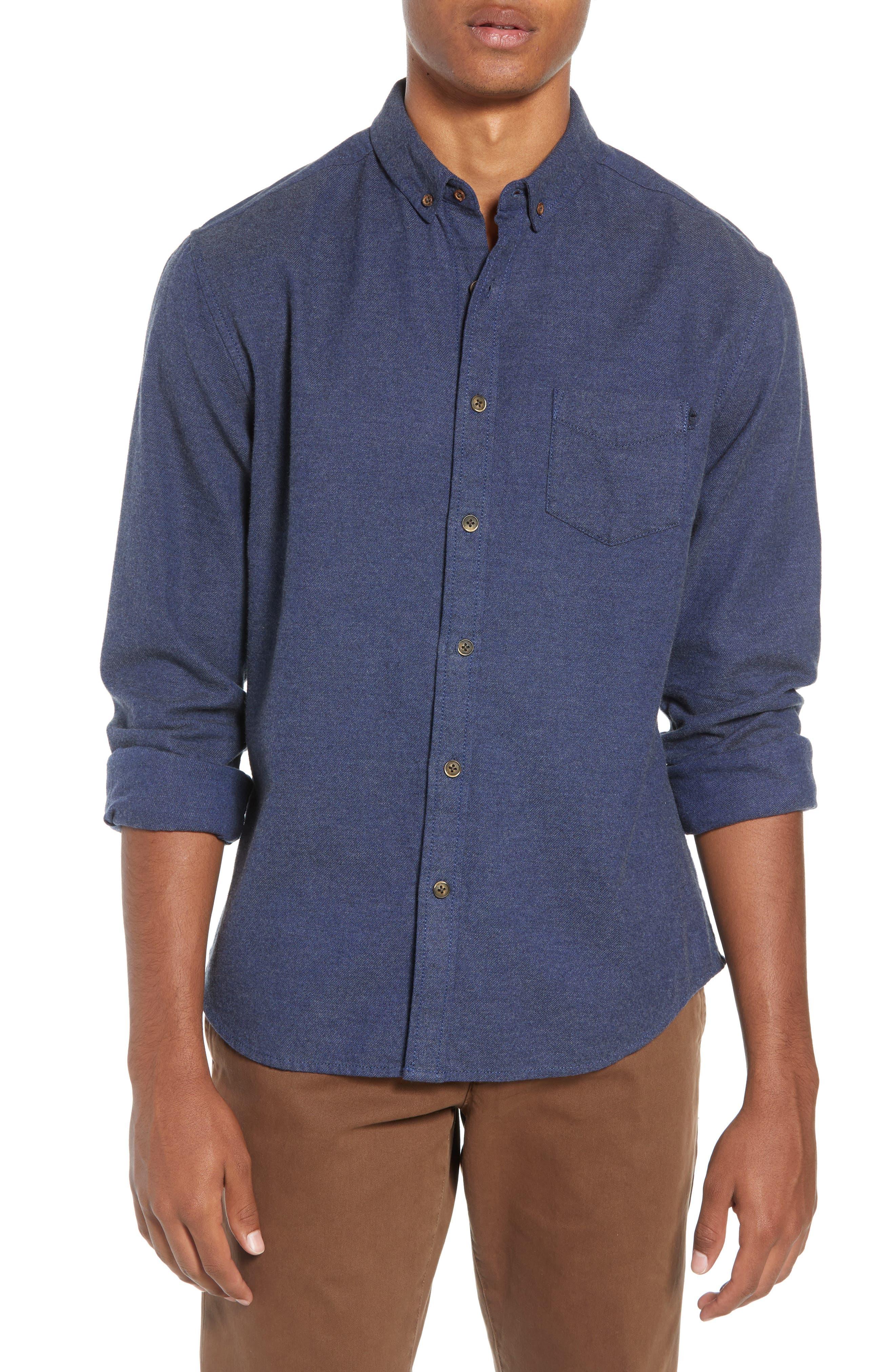 Life/after/denim Greenpoint Regular Fit Sport Shirt, Blue