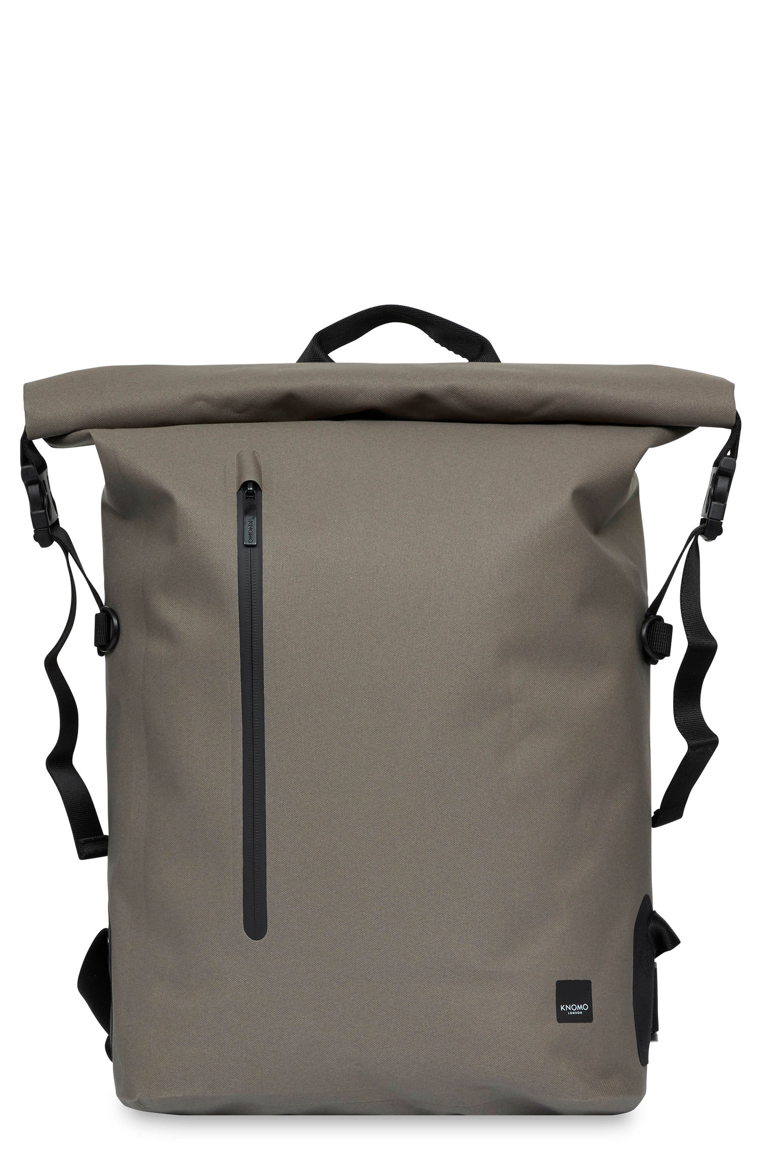 Knomo London Thames Cromwell Roll Top Backpack - Green