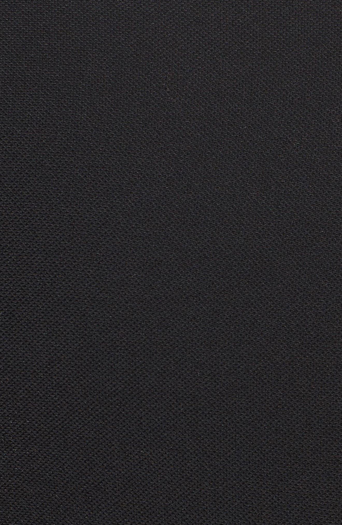 Colorblock V-Neck Jumpsuit,                             Alternate thumbnail 7, color,                             BLACK/ IVORY