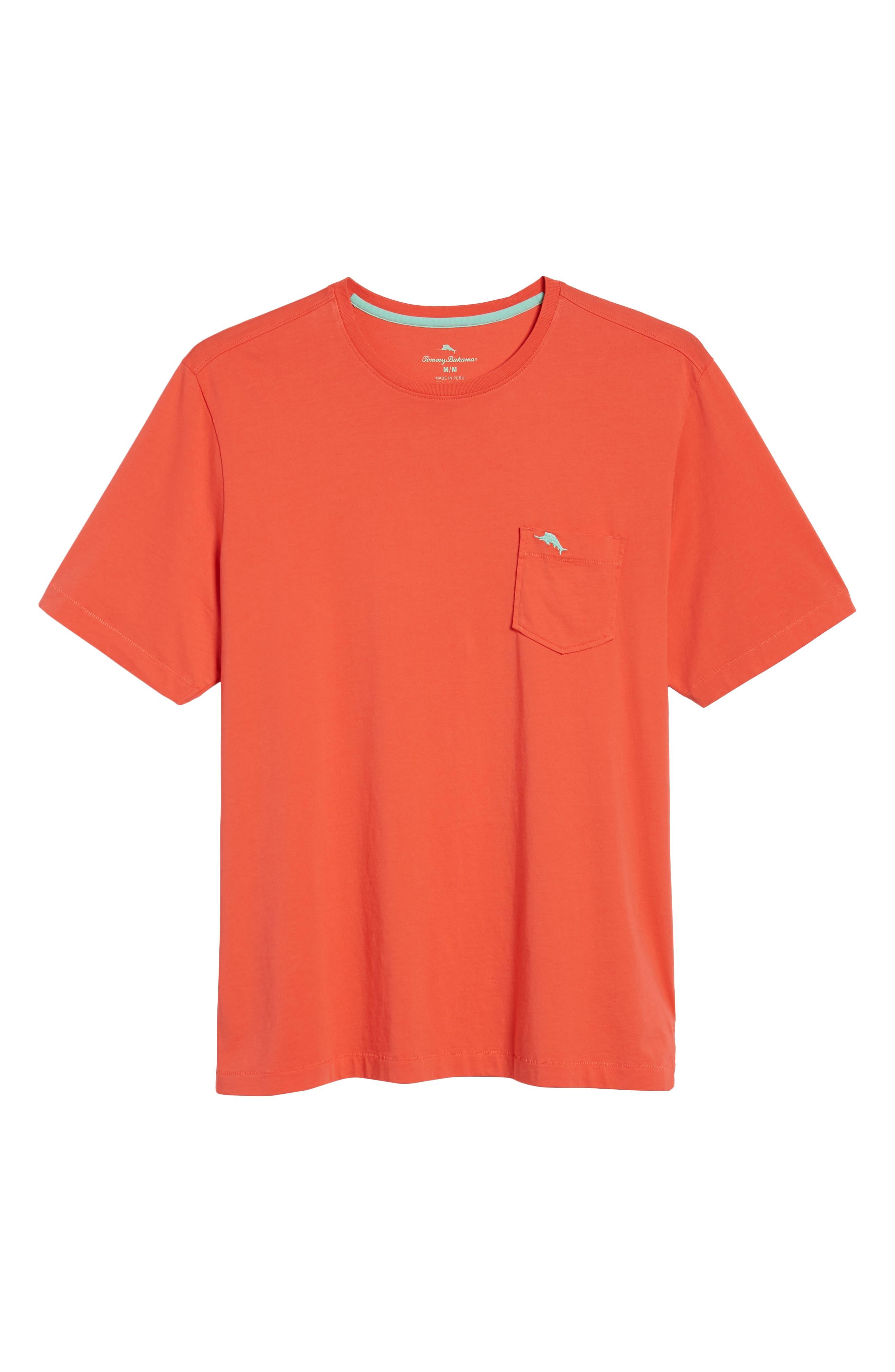 New Bali Sky Pima Cotton Pocket T-Shirt,                             Alternate thumbnail 132, color,
