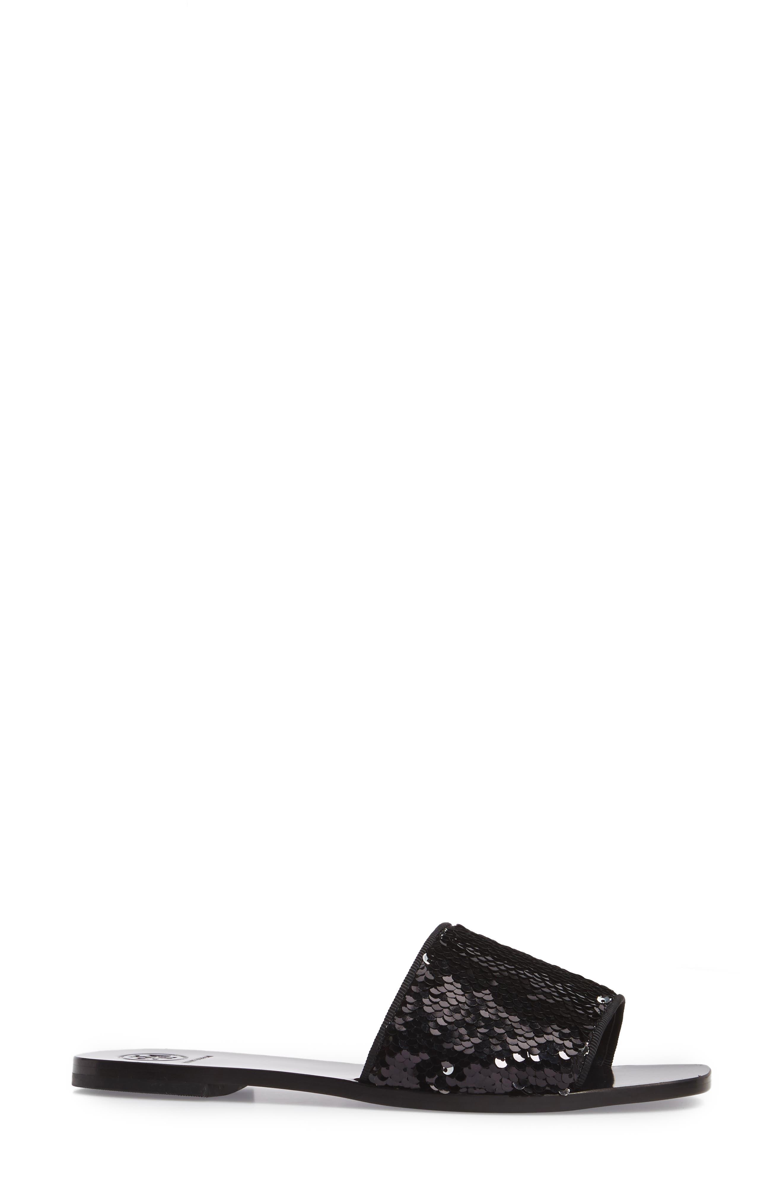 Carter Sequin Slide Sandal,                             Alternate thumbnail 3, color,                             043
