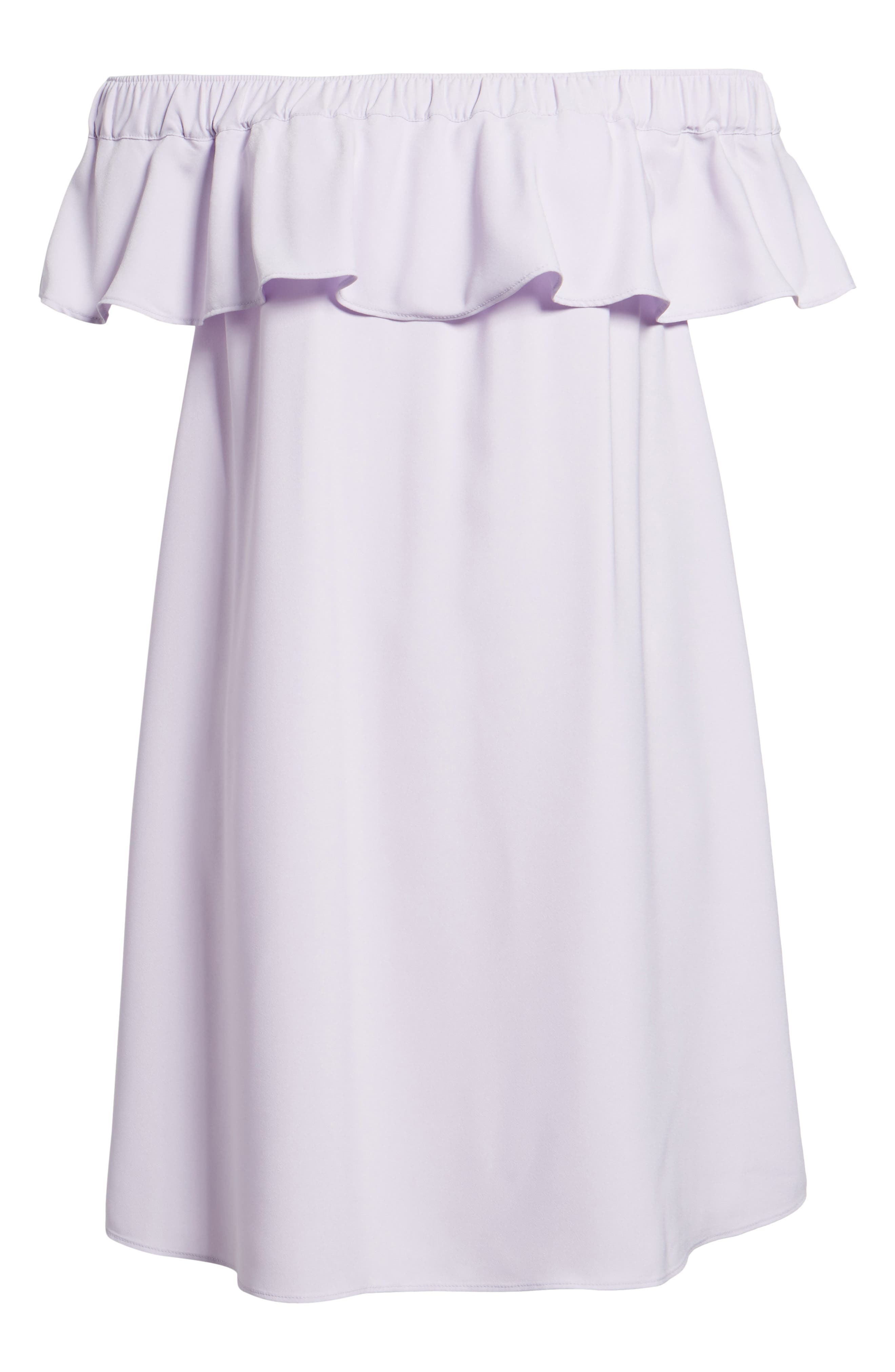 Off the Shoulder Crepe Dress,                             Alternate thumbnail 26, color,