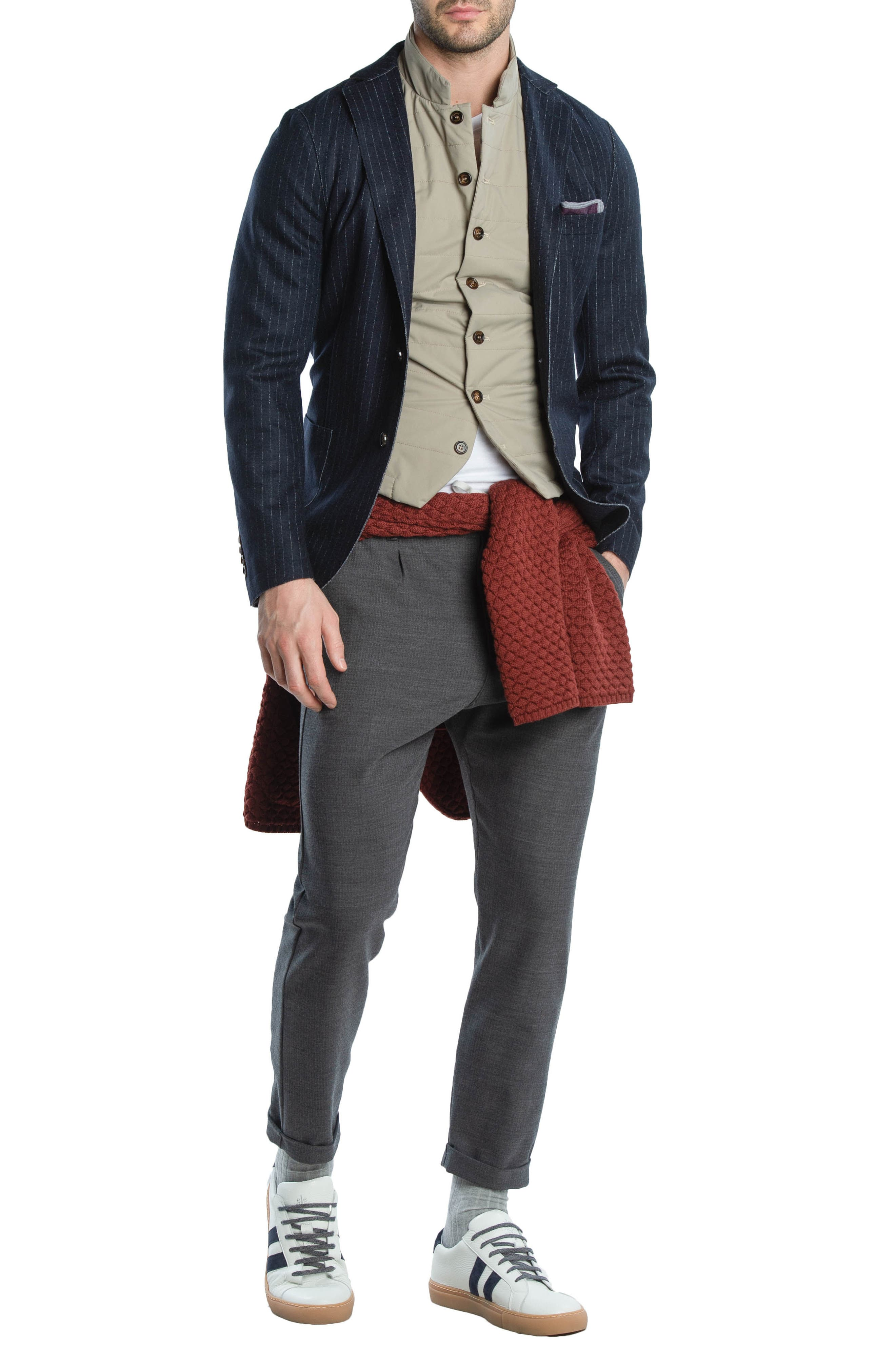 Quilted Vest,                             Alternate thumbnail 8, color,                             TAUPE