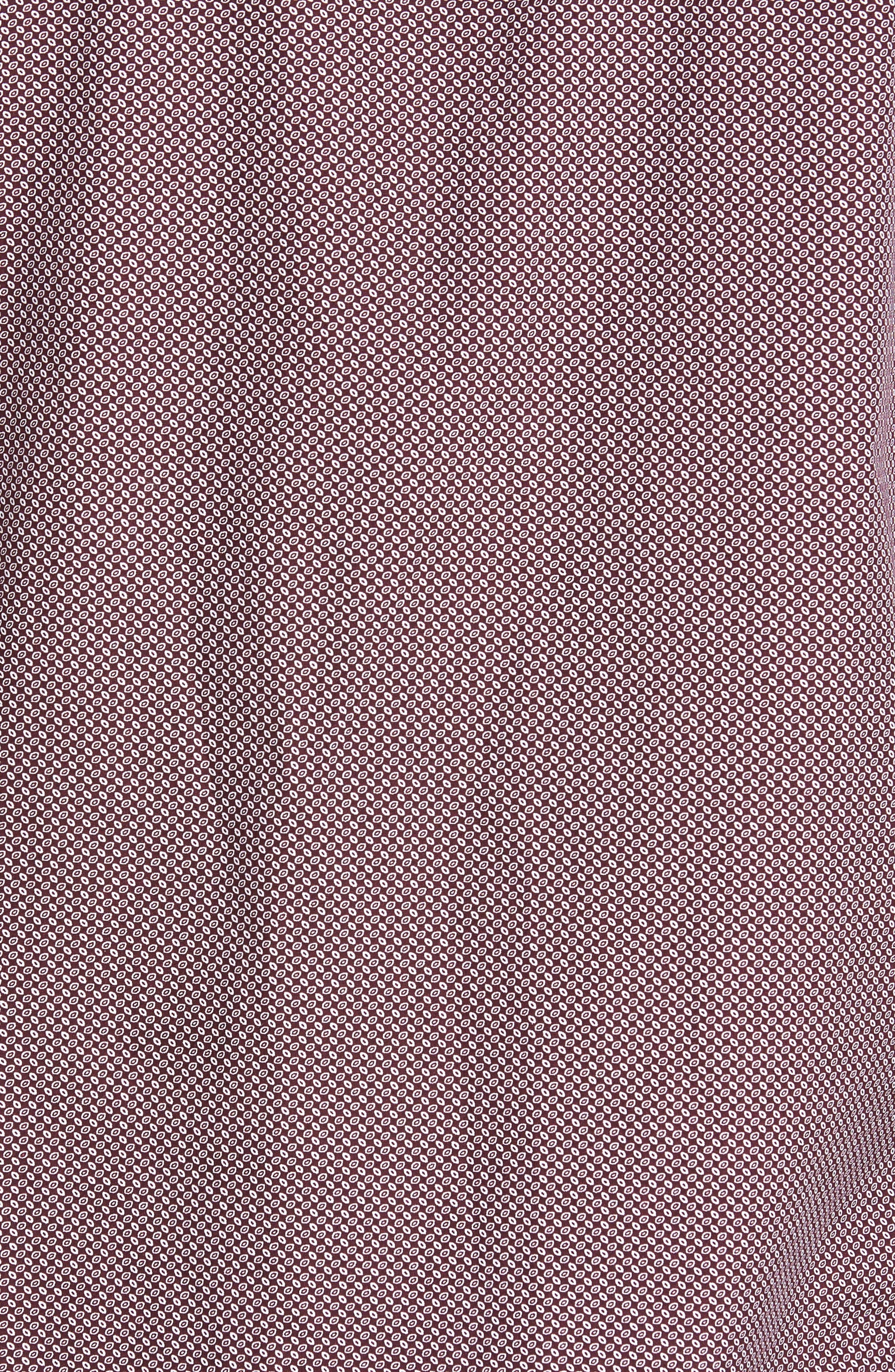 Trim Fit Non-Iron Spade Print Sport Shirt,                             Alternate thumbnail 5, color,