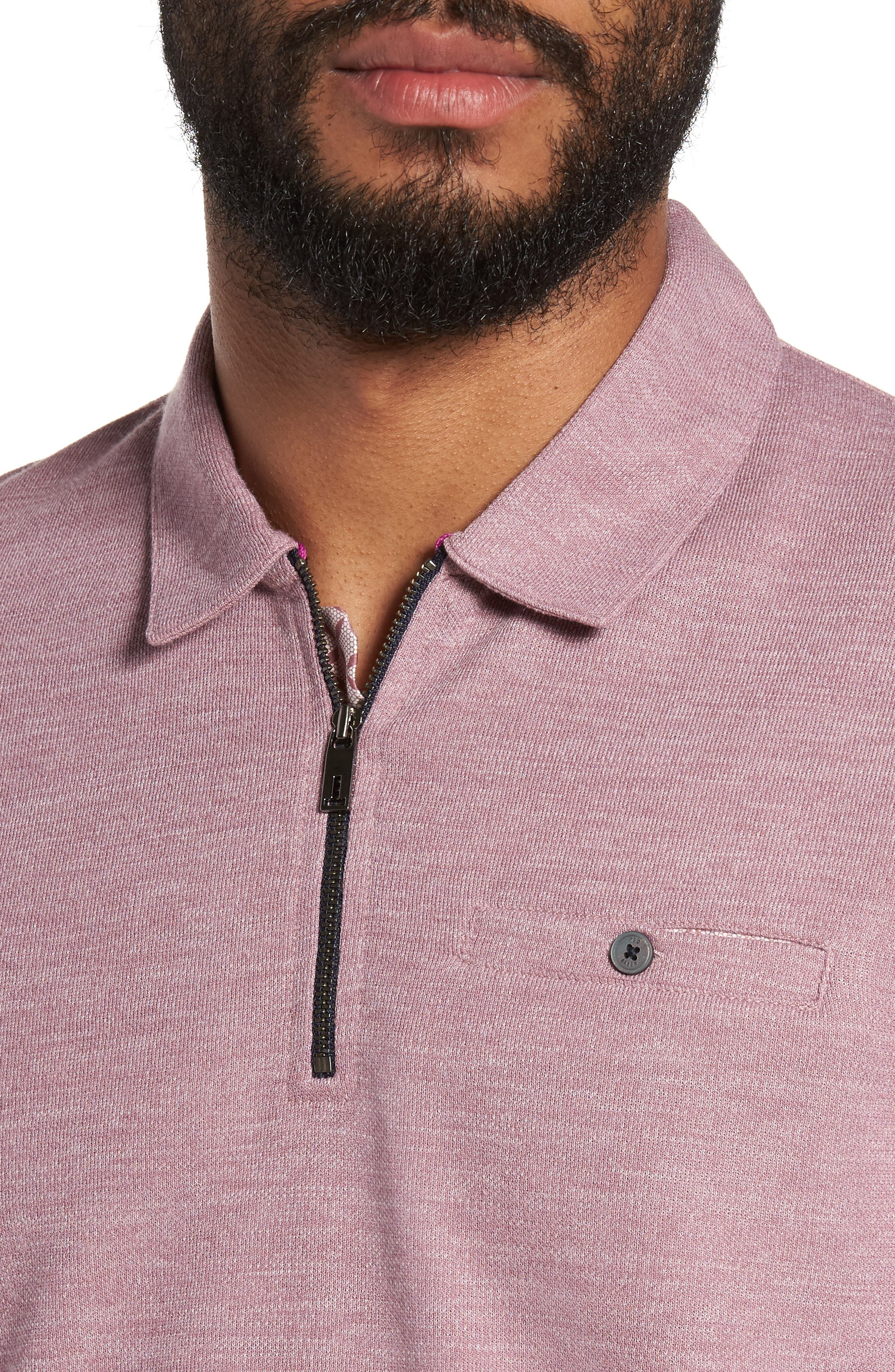 Modern Slim Fit Long Sleeve Jersey Polo,                             Alternate thumbnail 8, color,