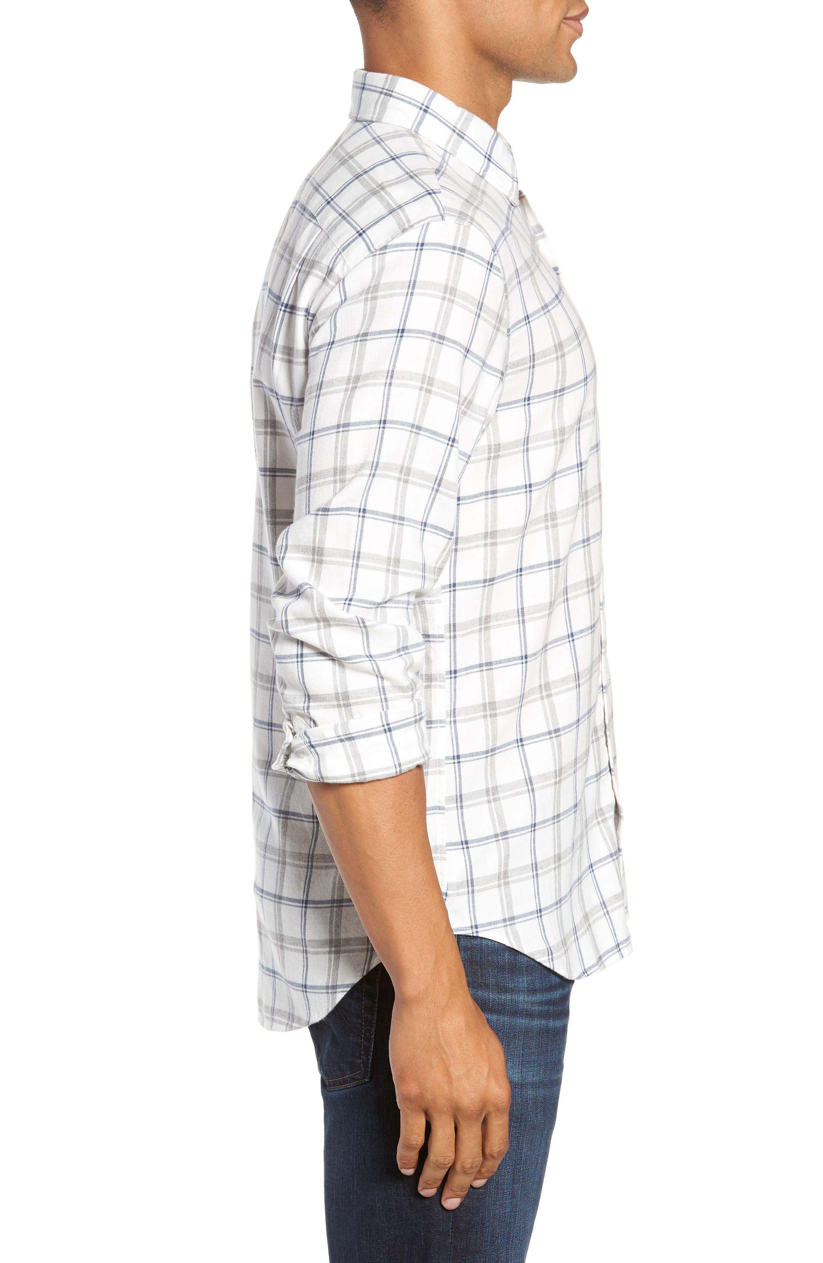 Slim Fit Brushed Twill Sport Shirt,                             Alternate thumbnail 4, color,                             400