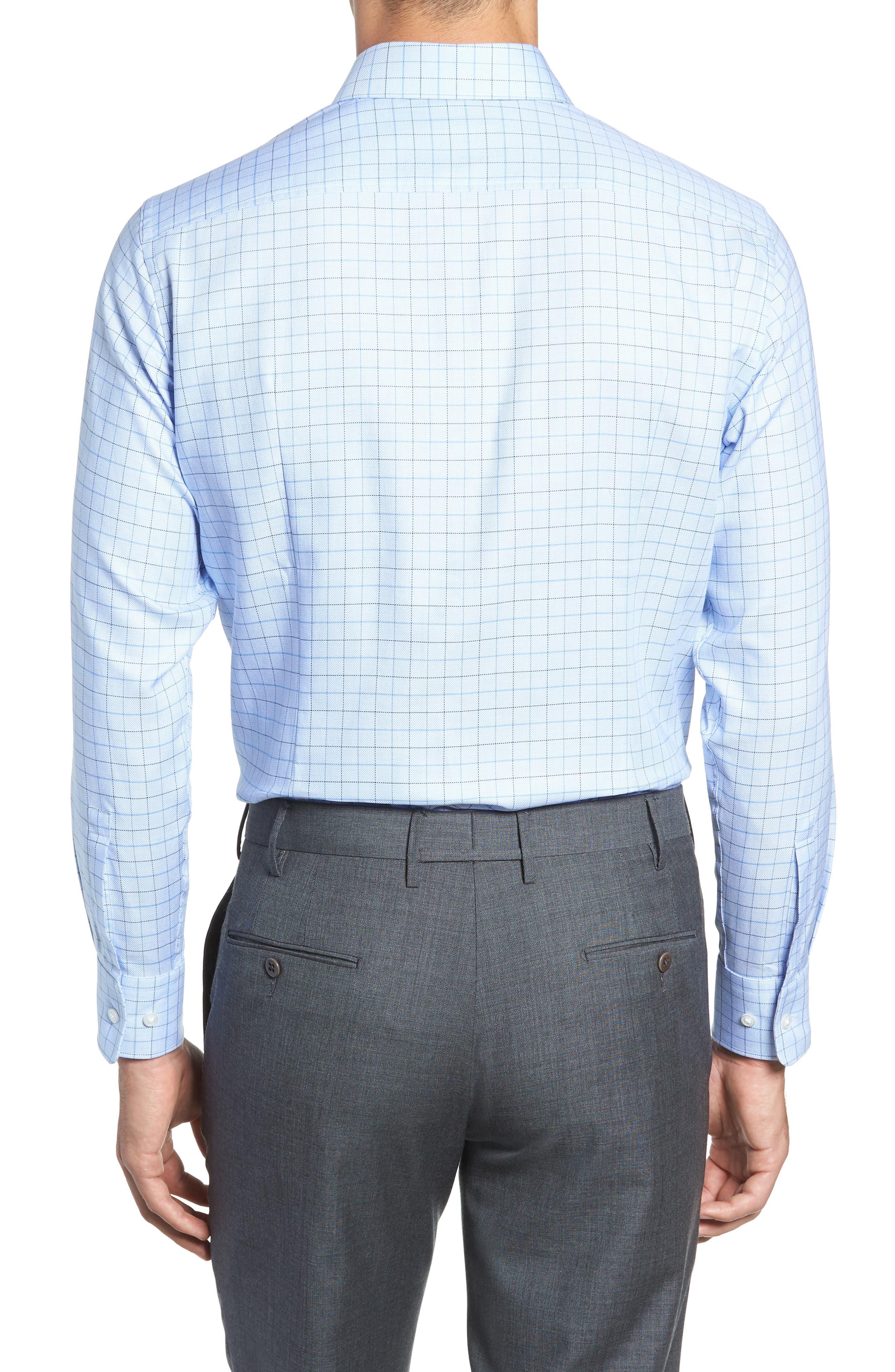 Mark Sharp Fit Check Dress Shirt,                             Alternate thumbnail 3, color,                             LIGHT BLUE