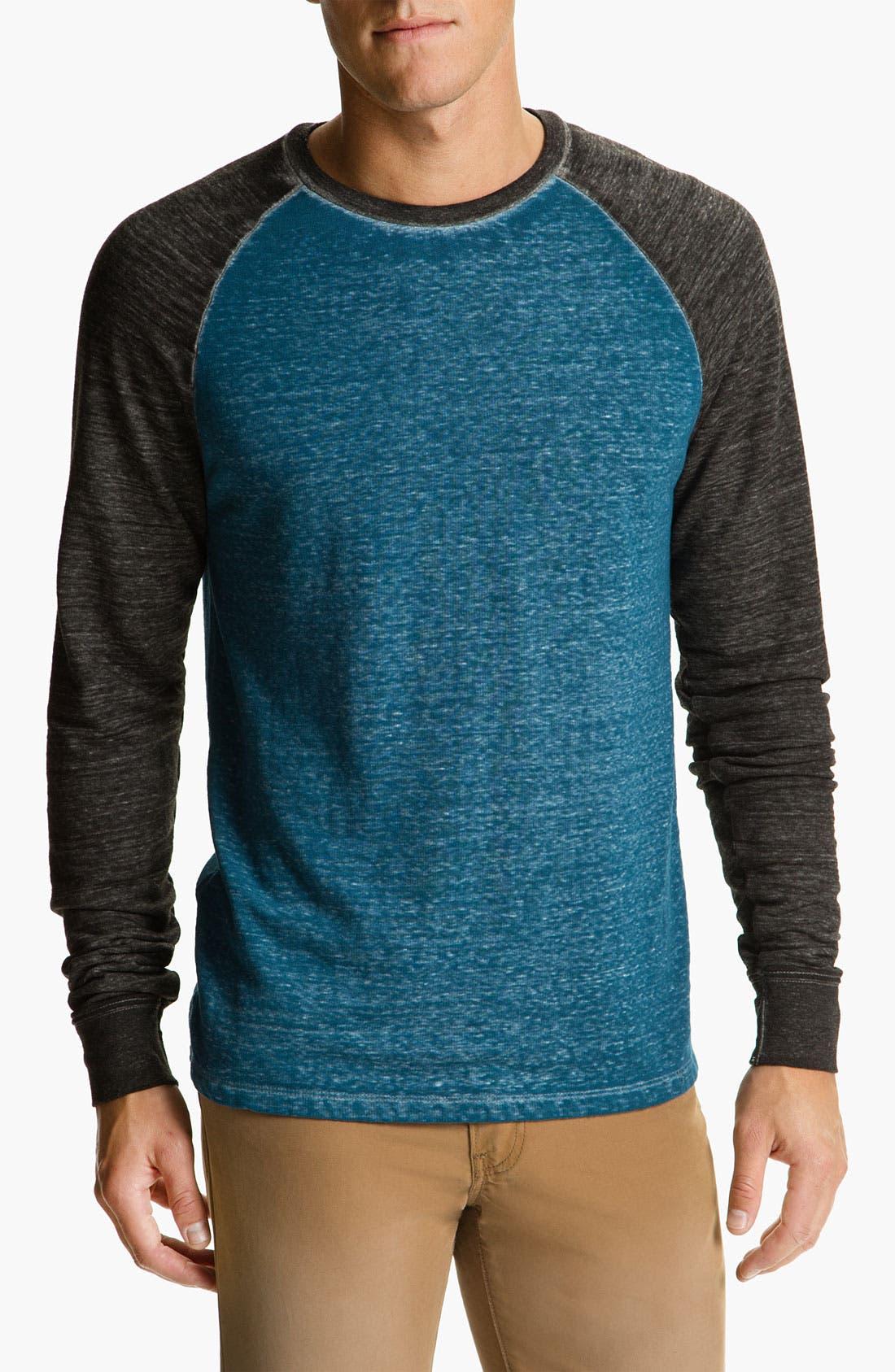 Washed Raglan Sleeve Sweatshirt,                             Main thumbnail 6, color,