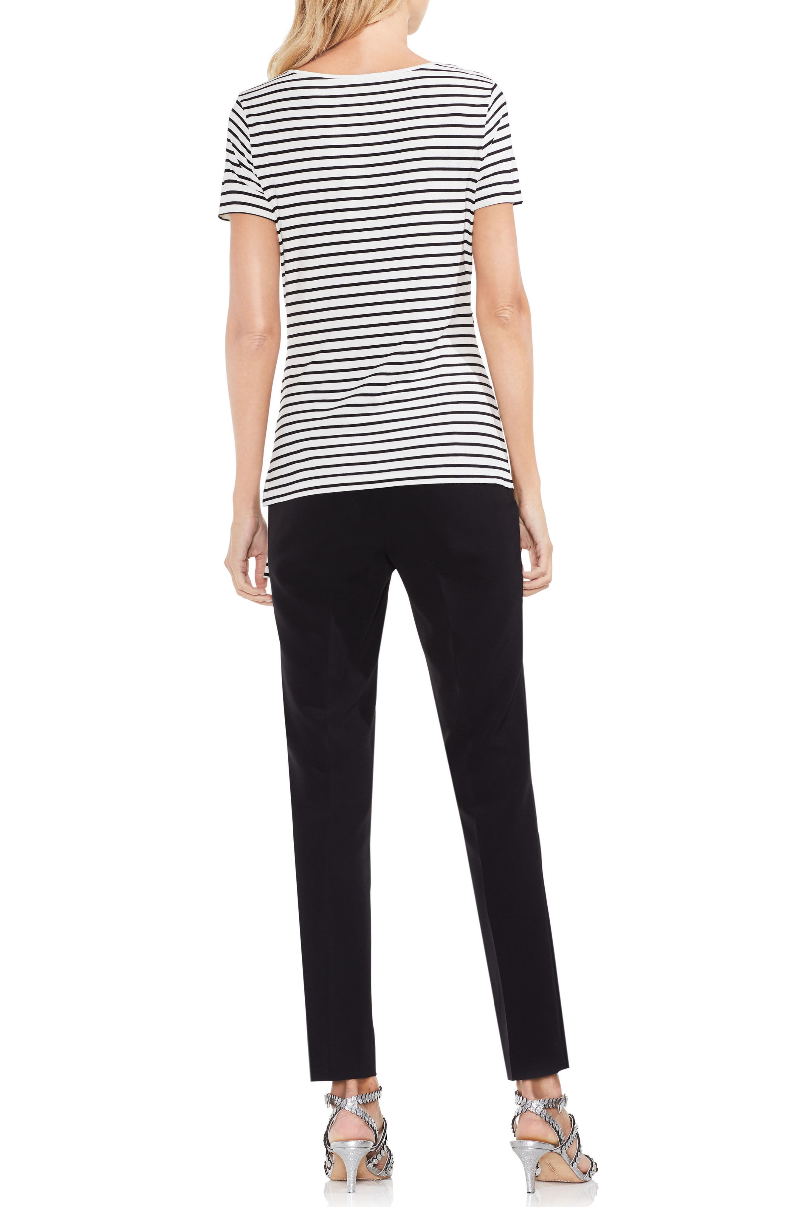 Faux Wrap Stripe Tee,                             Alternate thumbnail 3, color,                             103