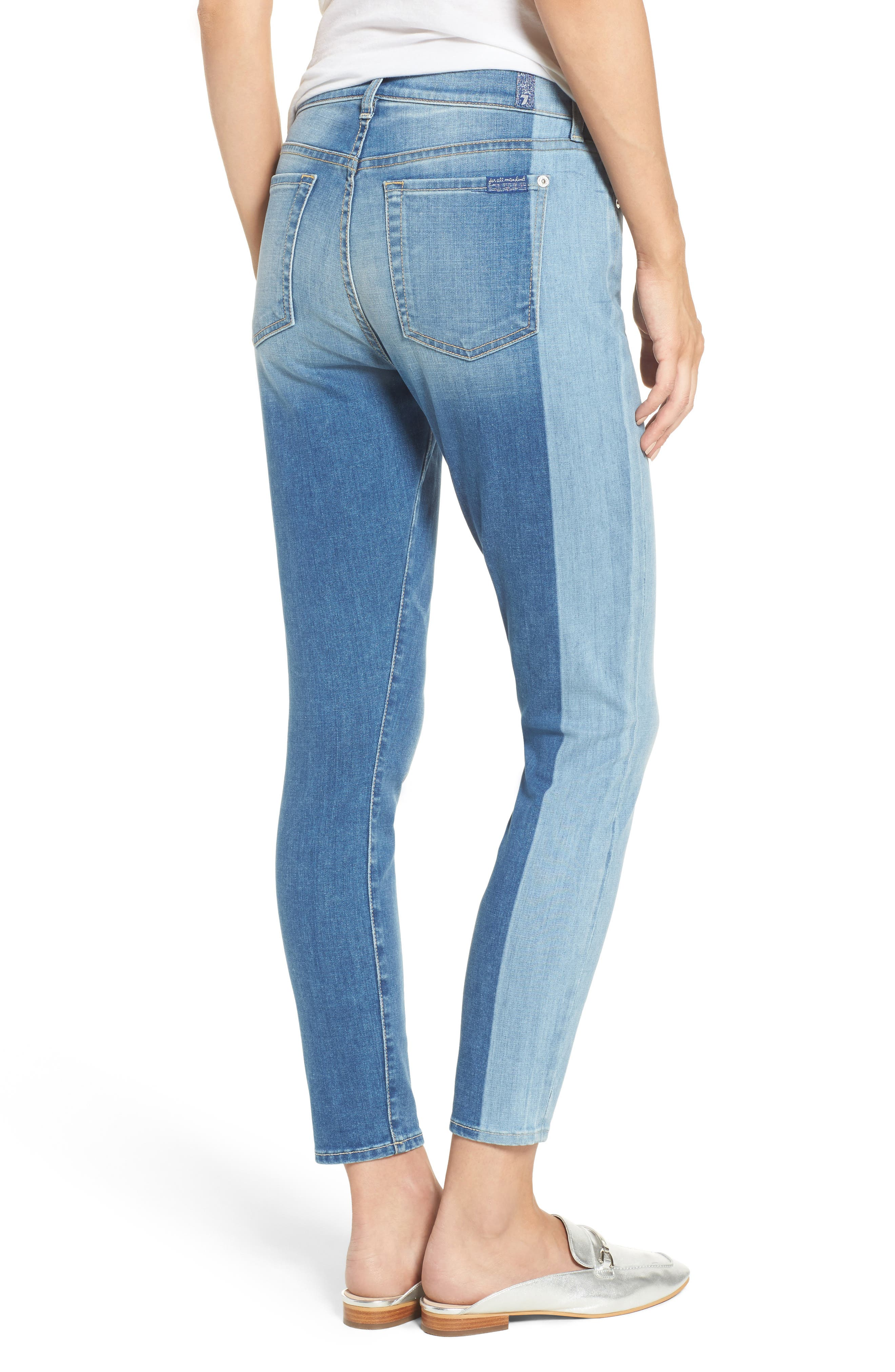Shadow Seamed Ankle Skinny Jeans,                             Alternate thumbnail 2, color,                             400