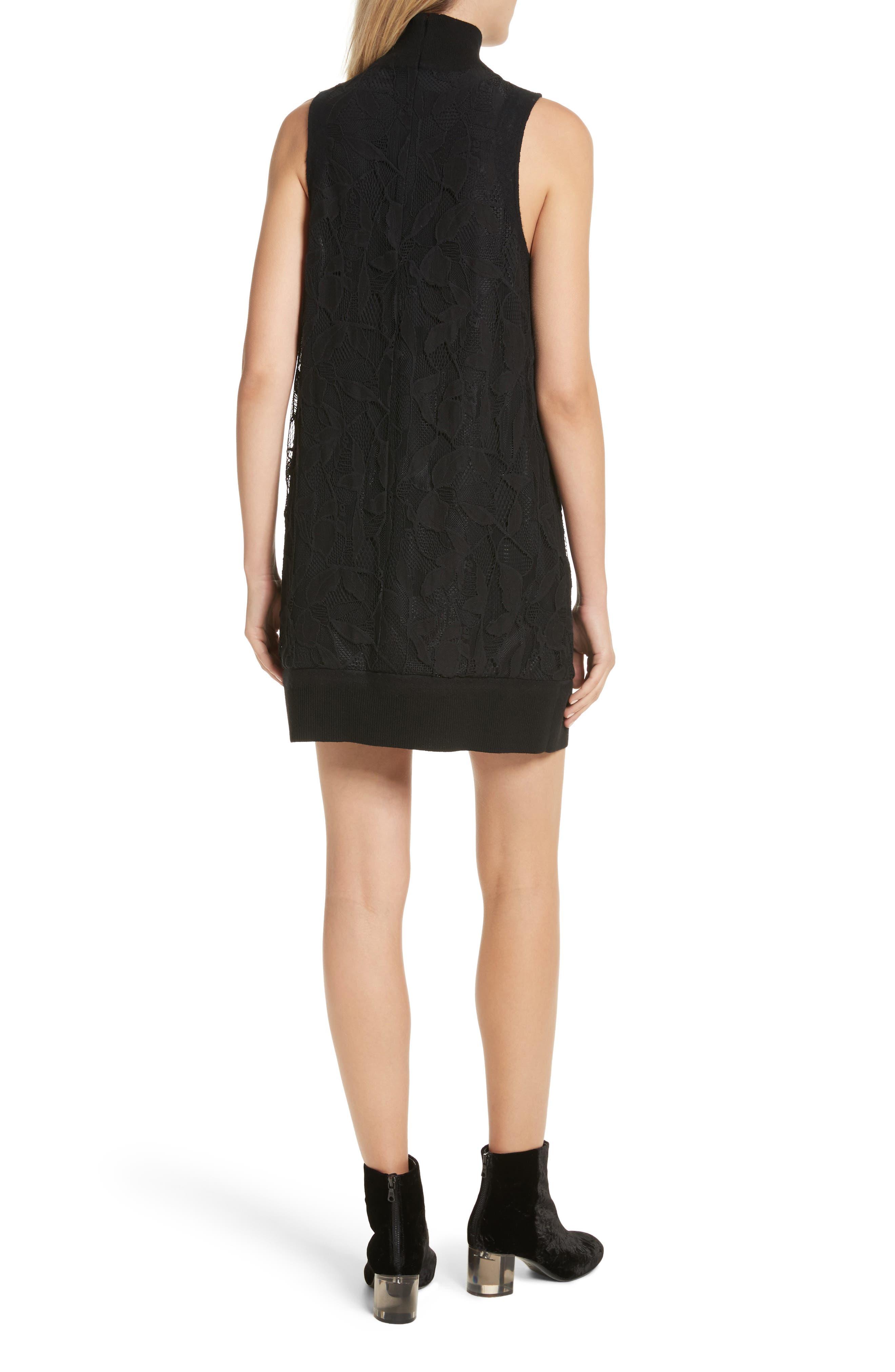Sofiya Lace Dress,                             Alternate thumbnail 2, color,                             001