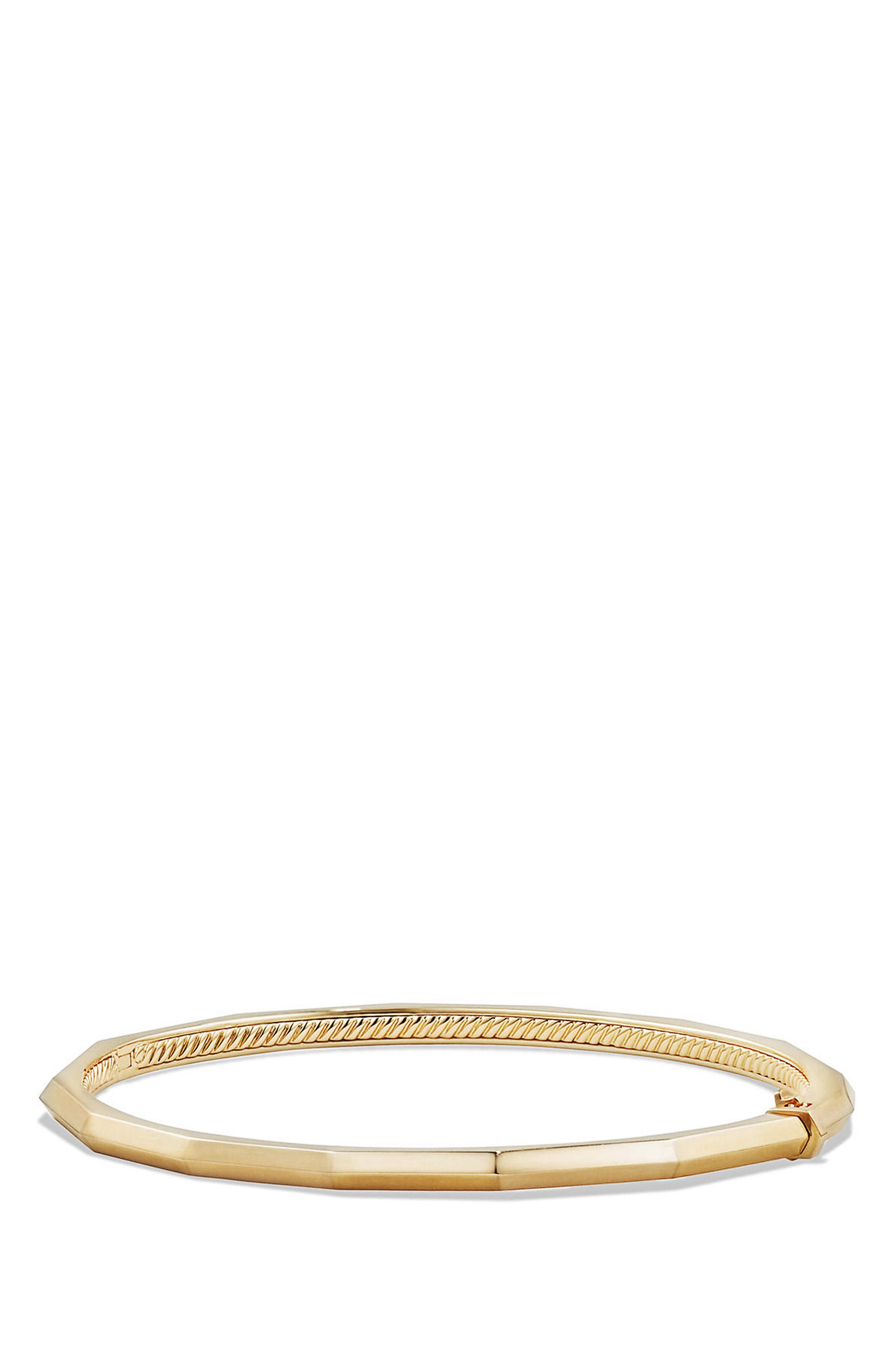 Stax Faceted Bracelet,                         Main,                         color, YELLOW GOLD