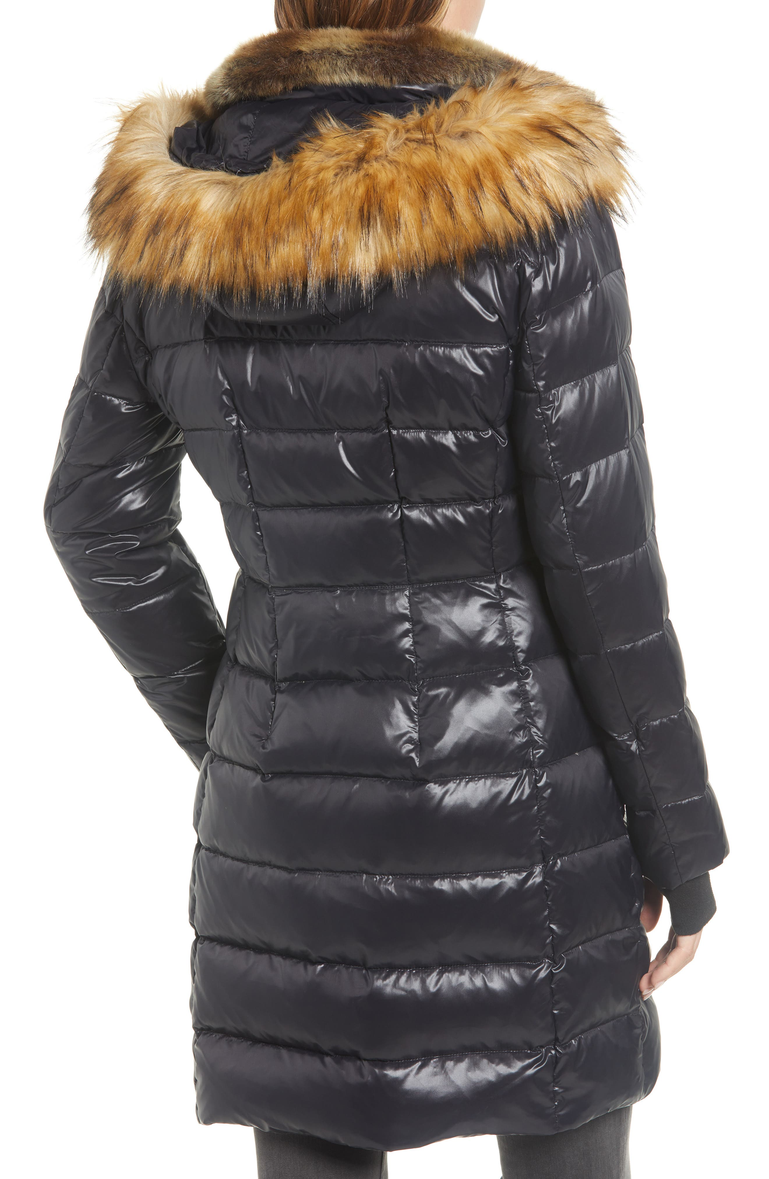 Uptown Down & Feather Fill Faux Fur Quilted Parka,                             Alternate thumbnail 2, color,                             002