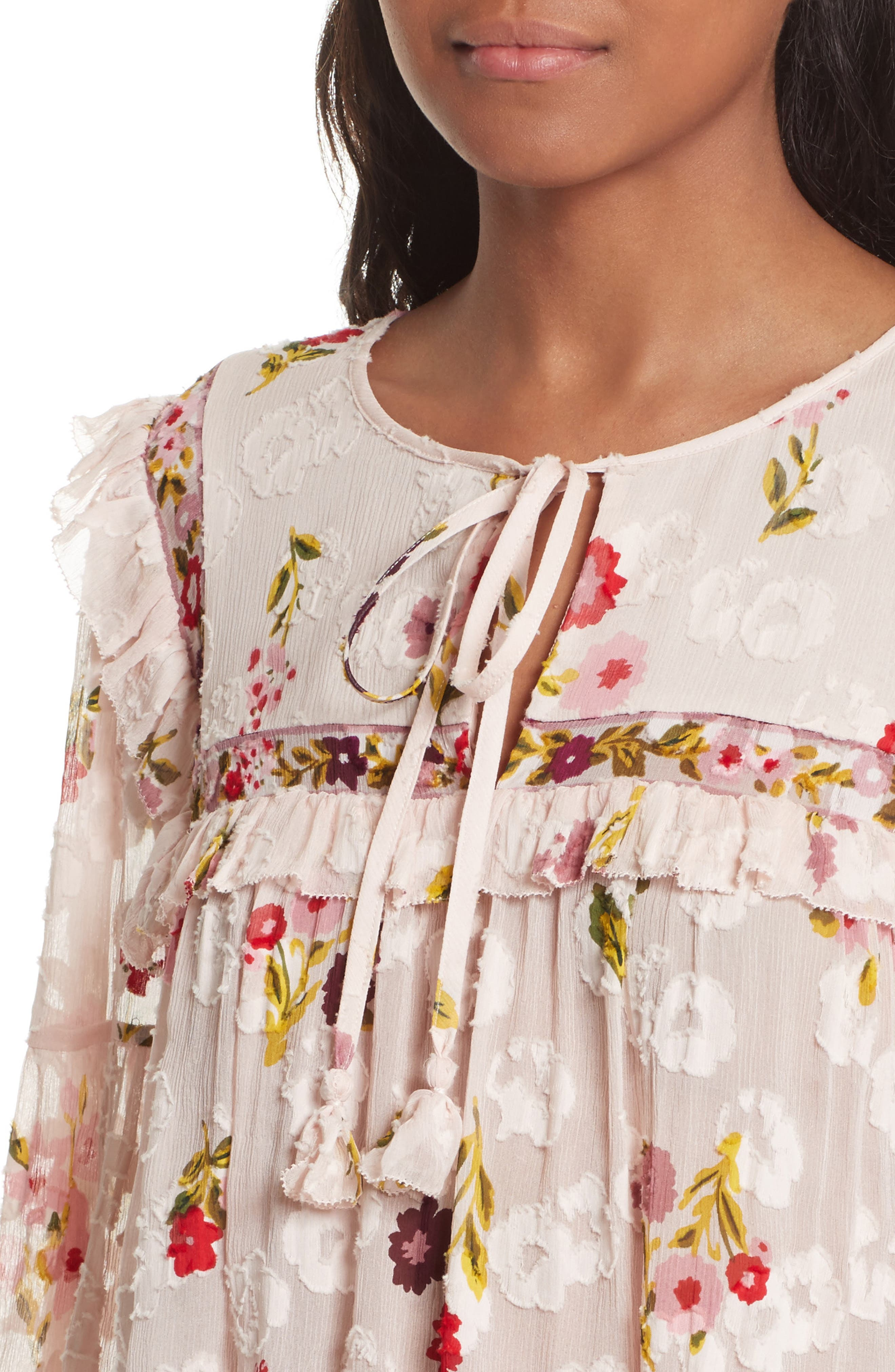 in bloom chiffon top,                             Alternate thumbnail 4, color,                             677
