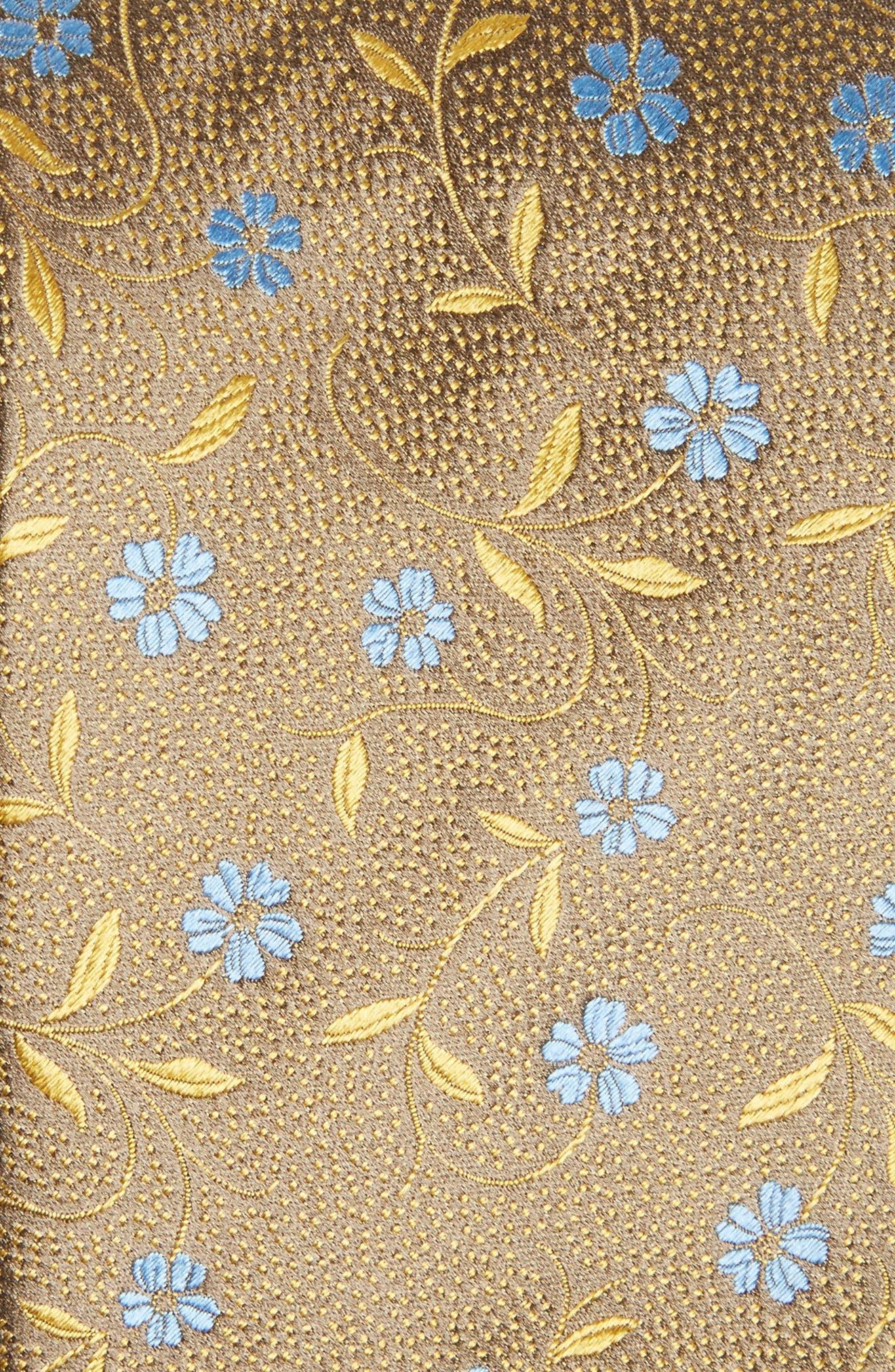 Floral Silk Tie,                             Alternate thumbnail 2, color,                             700