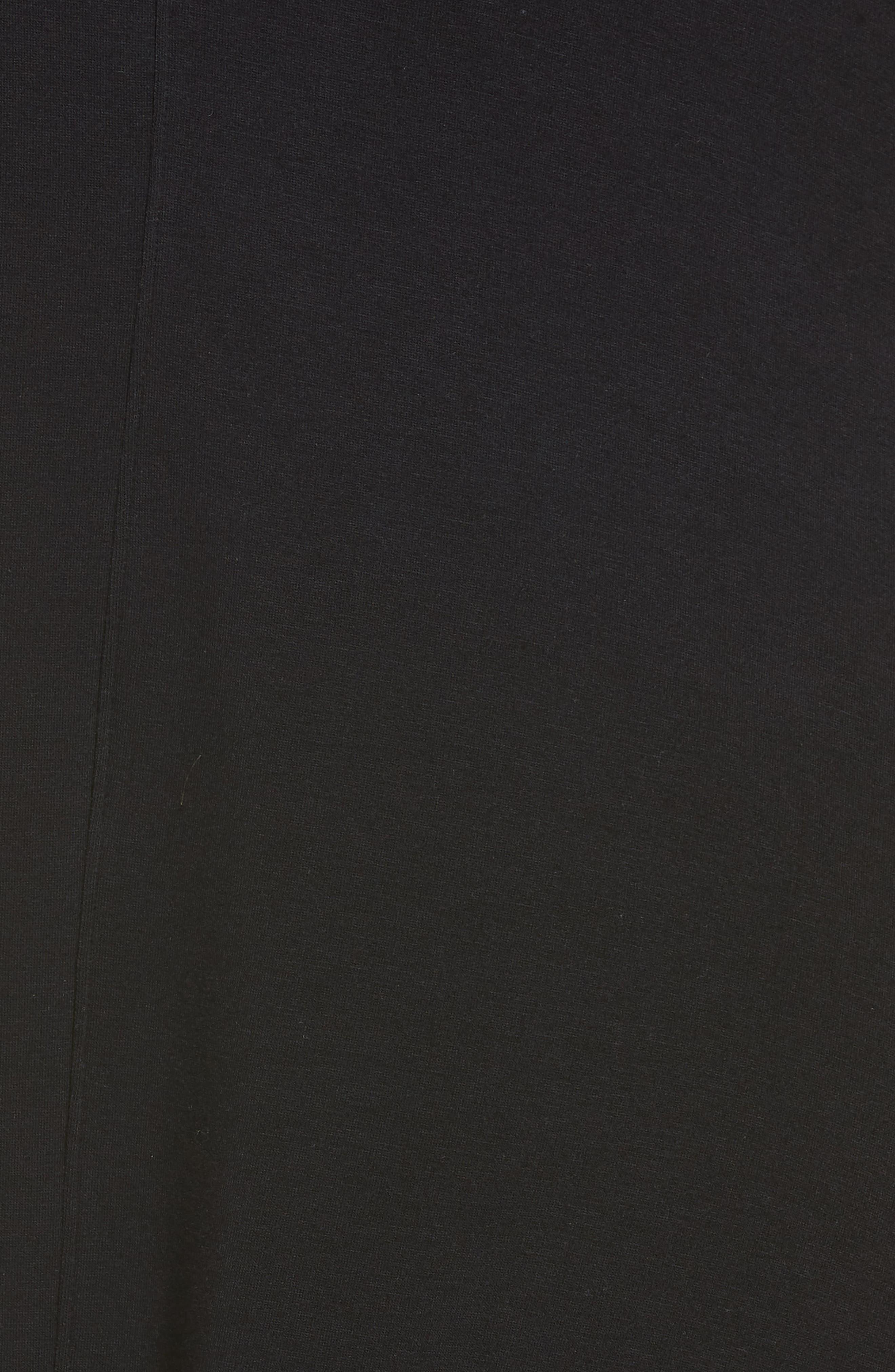 High Slit Duster,                             Alternate thumbnail 5, color,                             BLACK