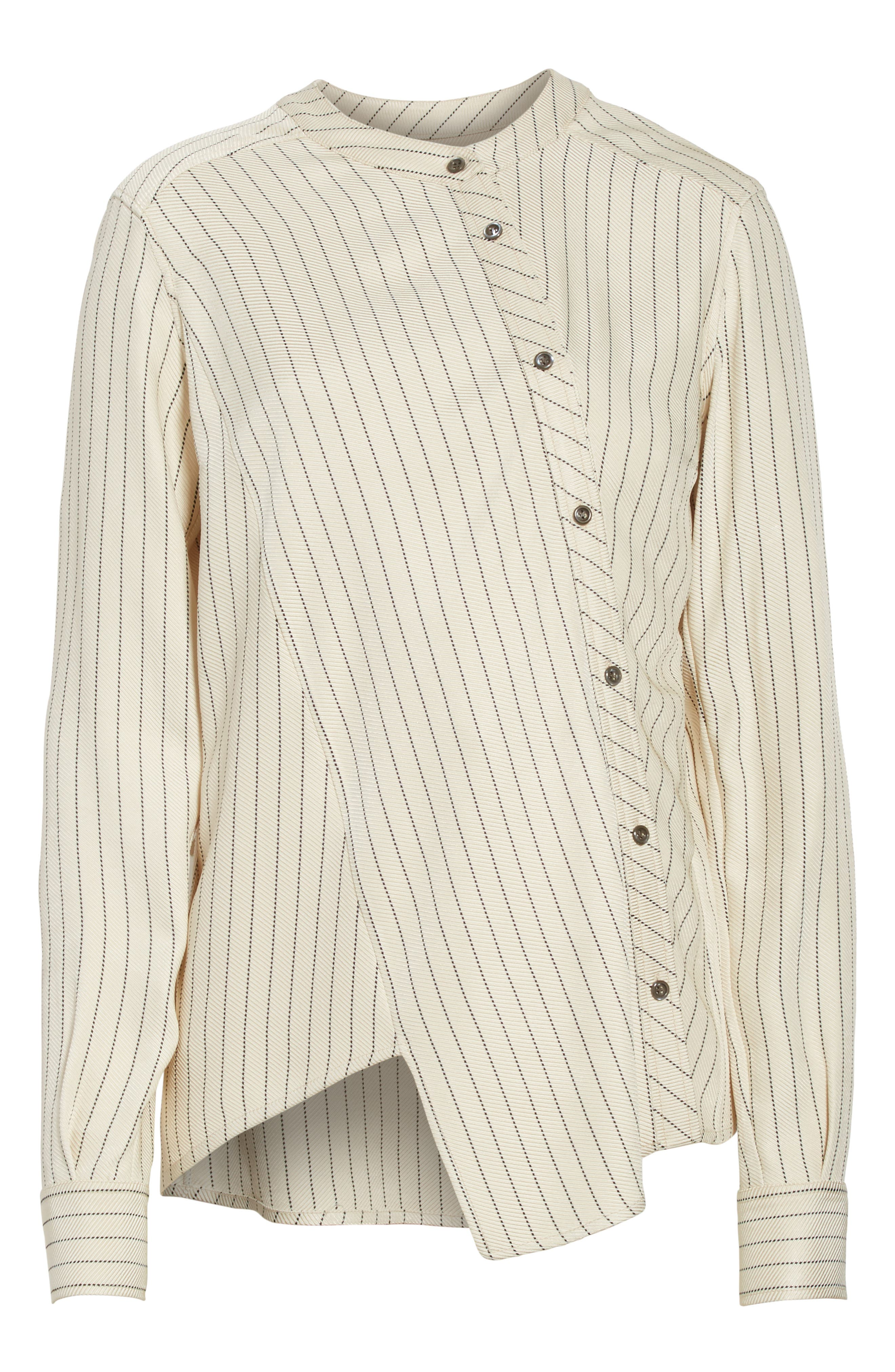Asymmetrical Pinstripe Blouse,                             Alternate thumbnail 6, color,                             900