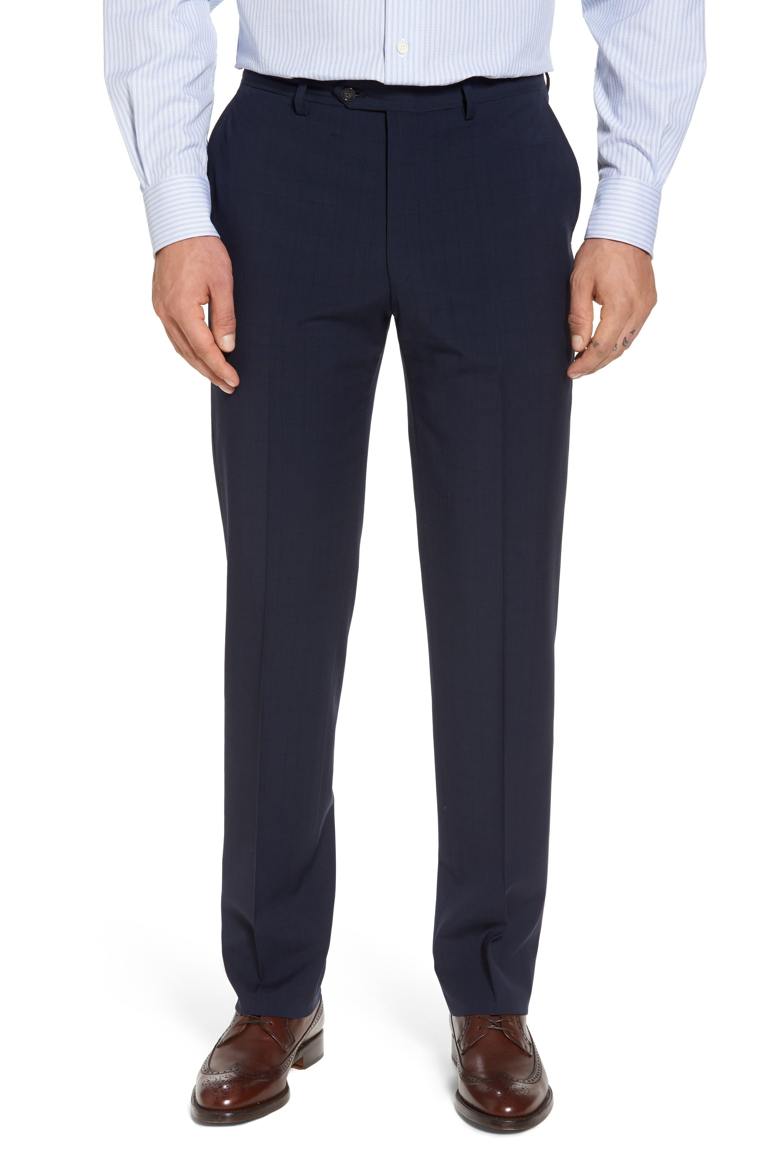 New York Classic Fit Plaid Wool Suit,                             Alternate thumbnail 6, color,                             400