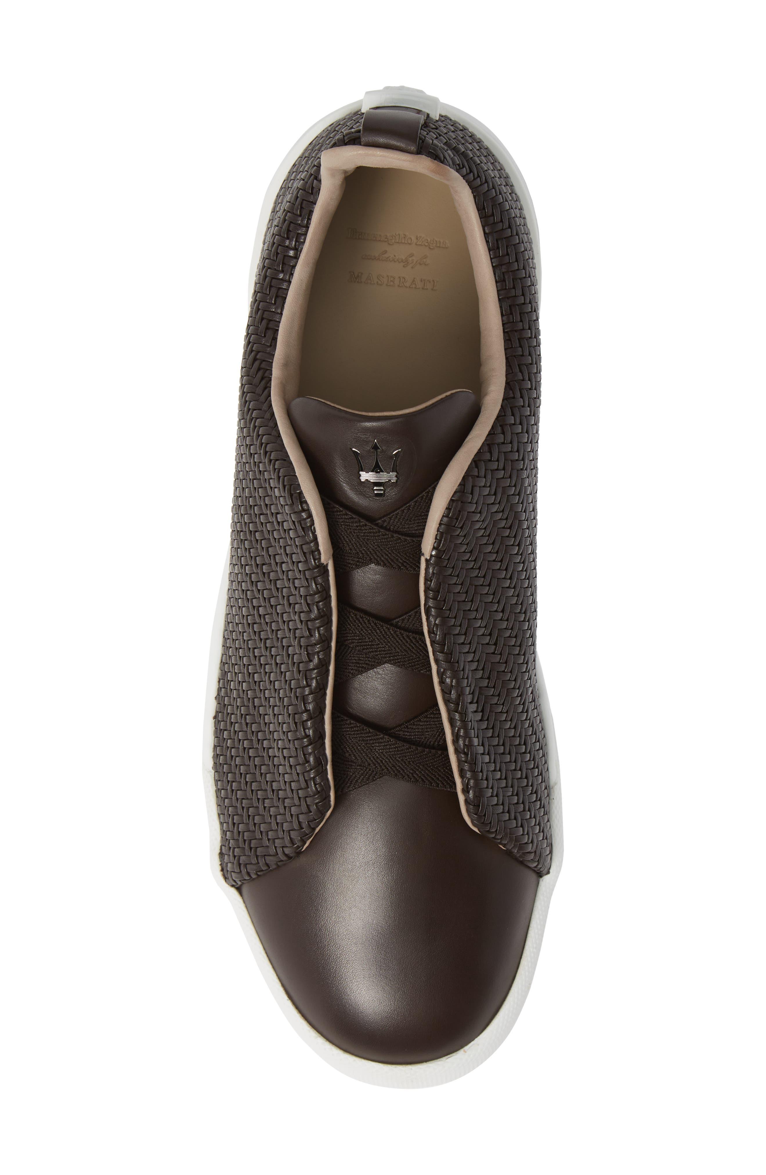Slip-On Sneaker,                             Alternate thumbnail 5, color,                             DARK BROWN