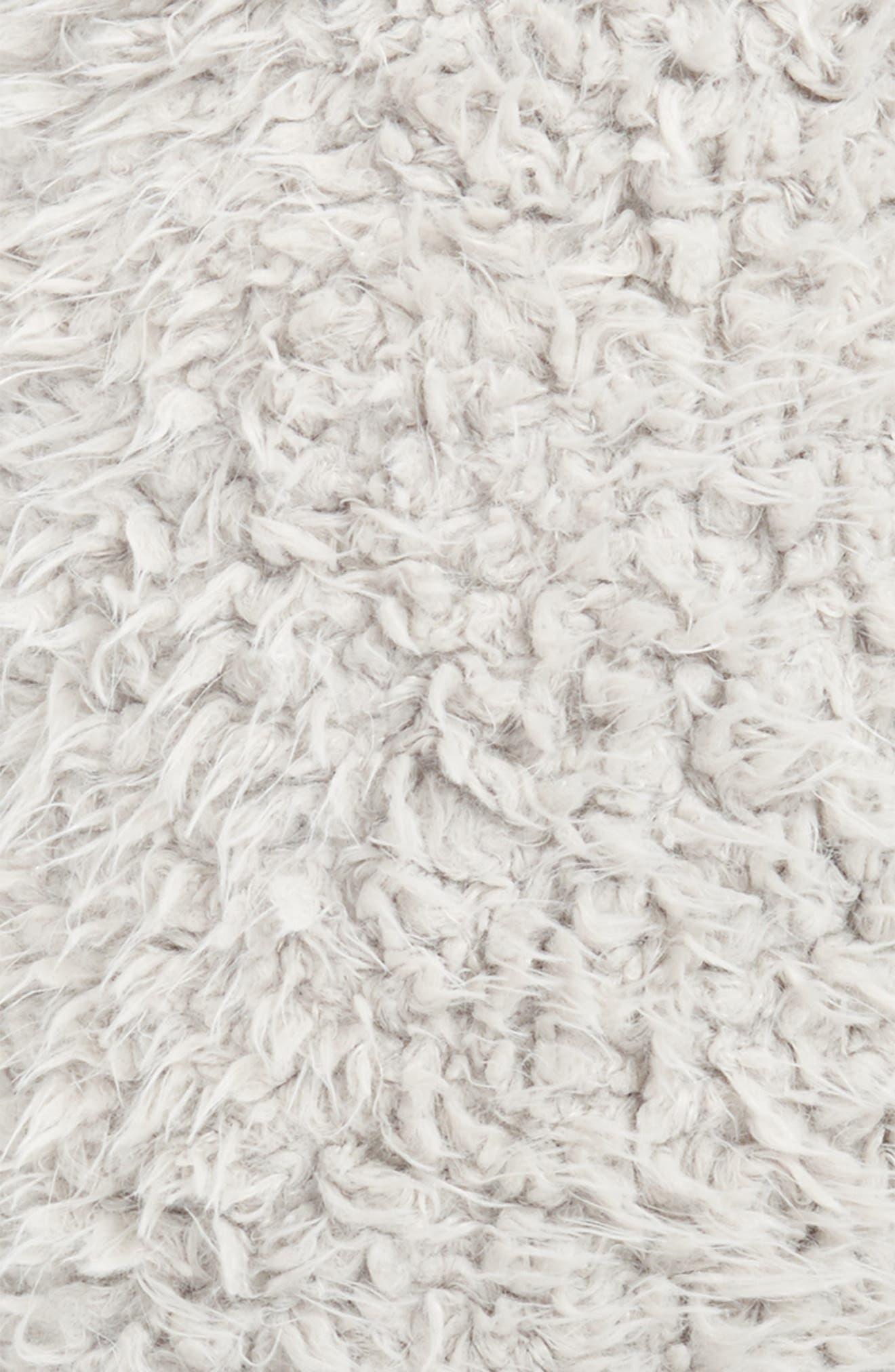 Shaggy Faux Fur Pillow,                             Alternate thumbnail 3, color,                             020