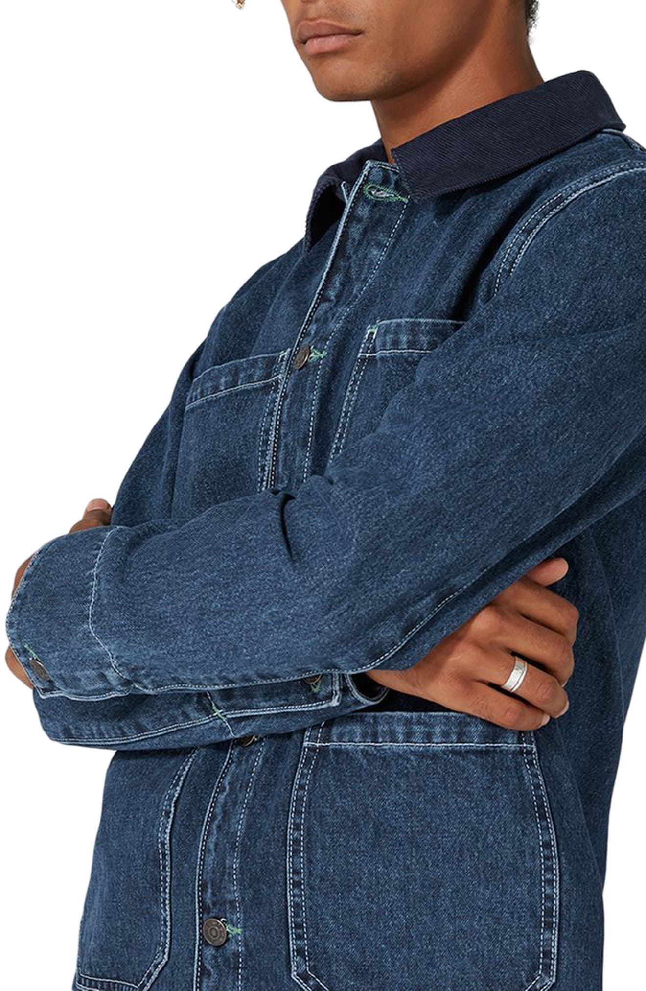 Denim Workwear Jacket,                             Alternate thumbnail 3, color,