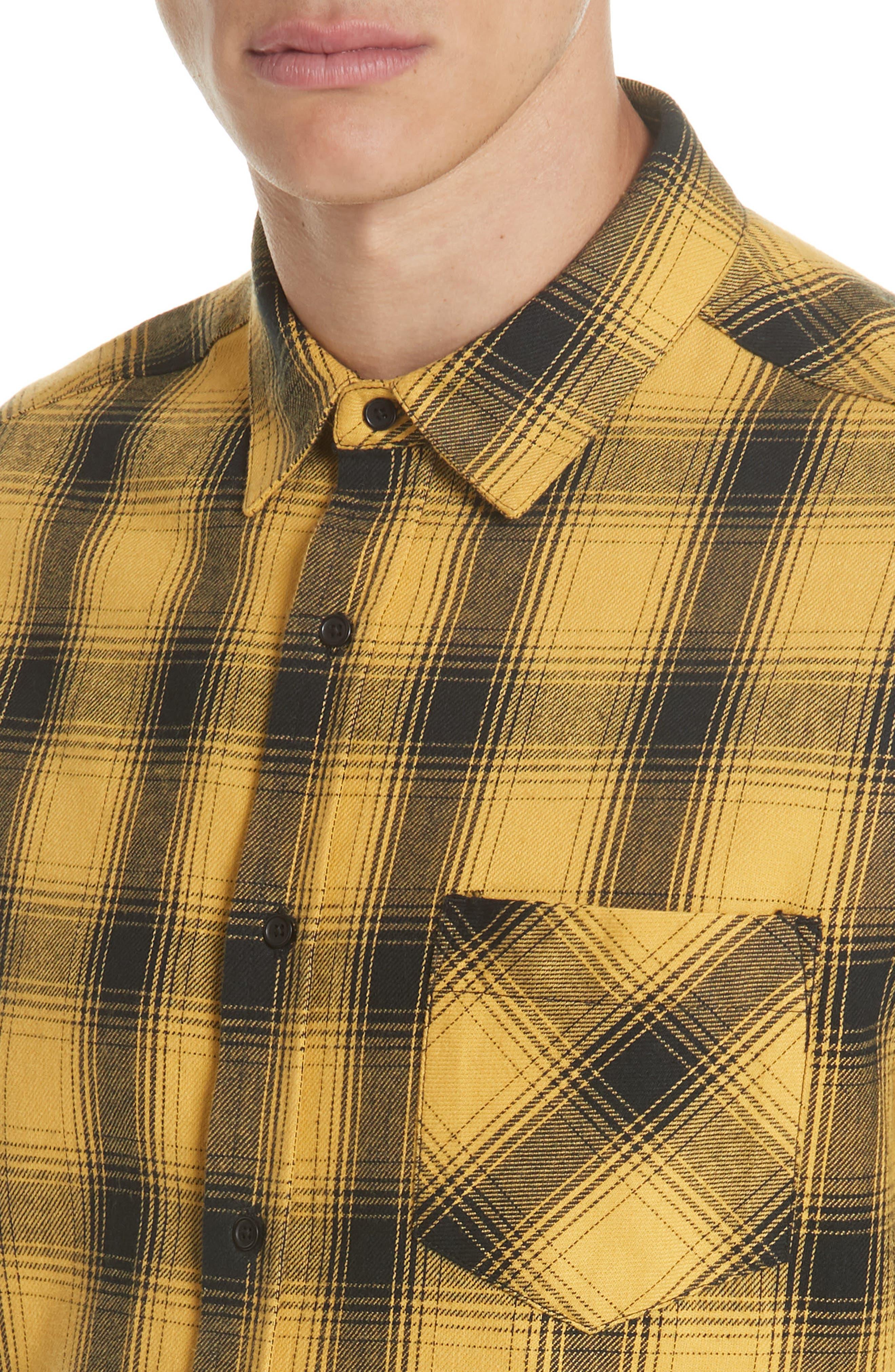 Max Plaid Flannel Shirt,                             Alternate thumbnail 2, color,                             GOLD PLAID