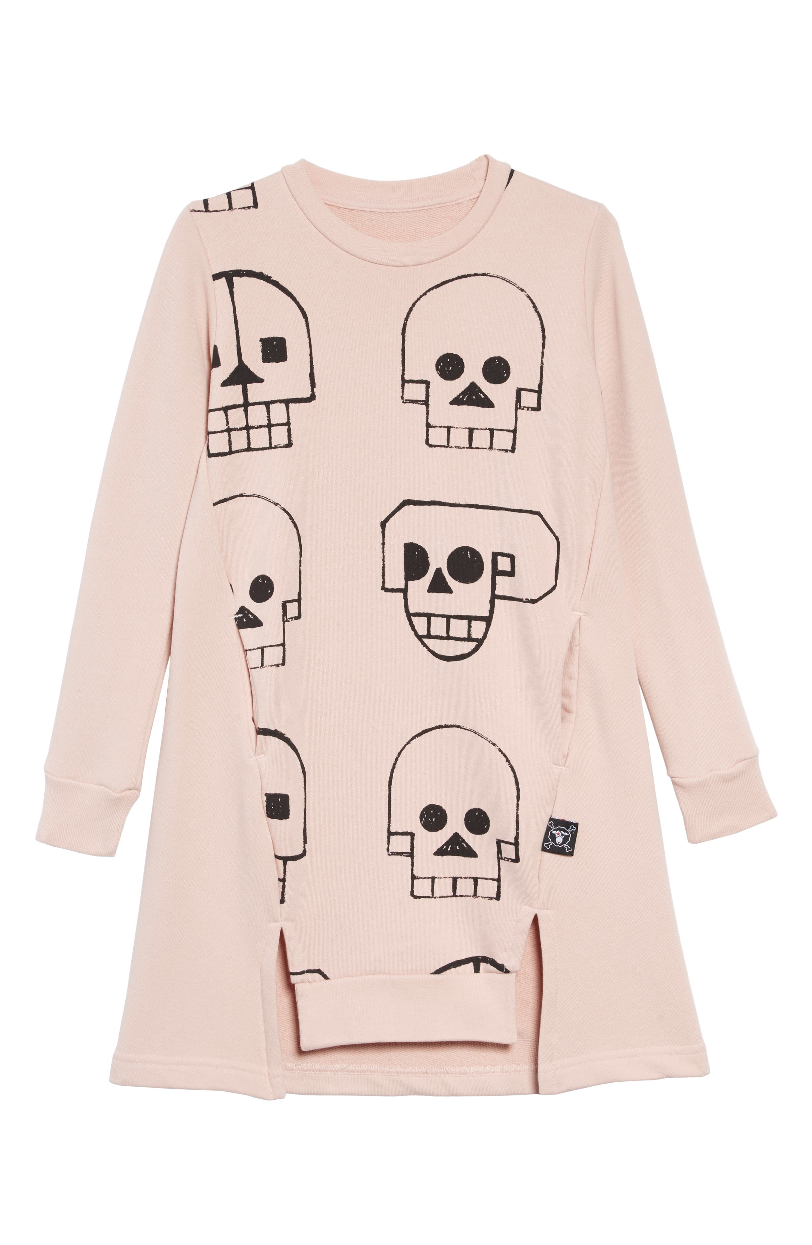 Skull Robot Dress,                             Main thumbnail 1, color,                             POWDER PINK
