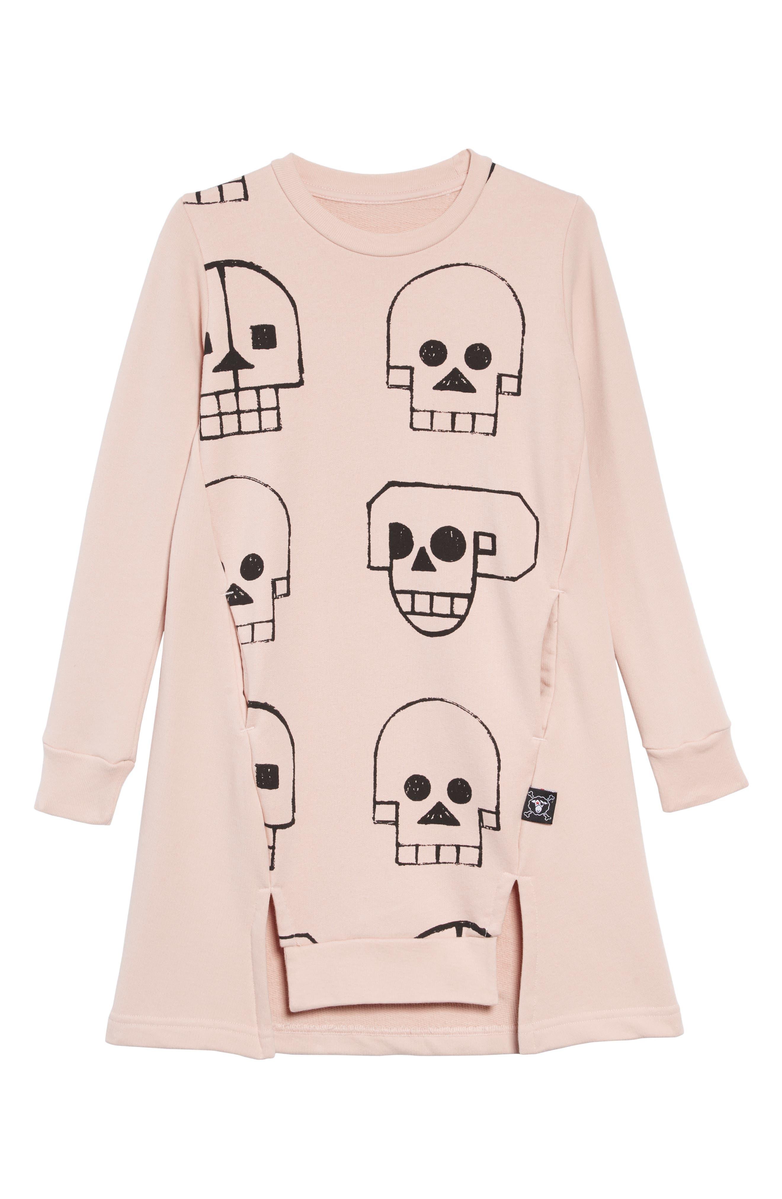 Skull Robot Dress,                         Main,                         color, POWDER PINK