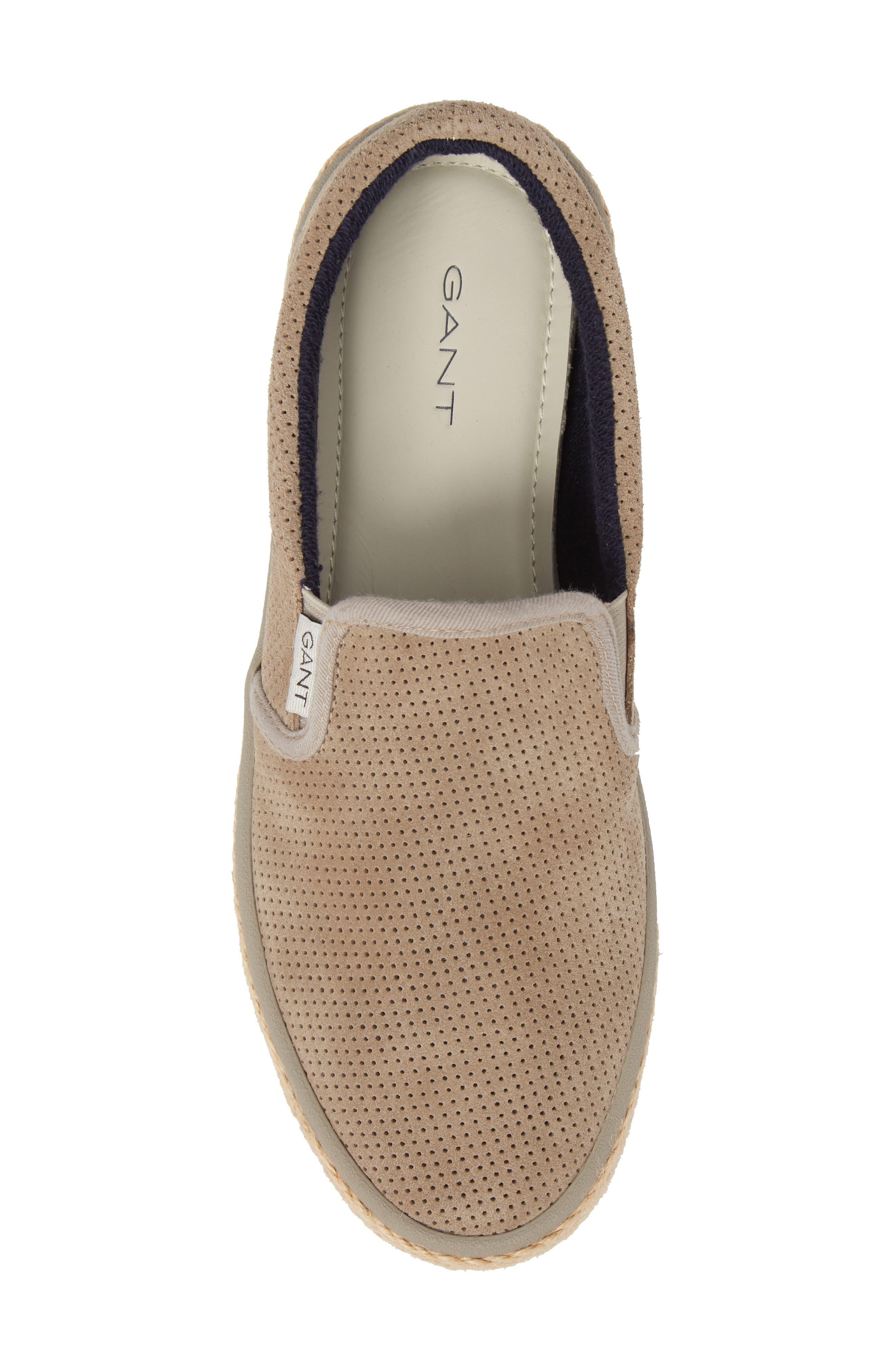 Master Perforated Slip-On Sneaker,                             Alternate thumbnail 5, color,                             209