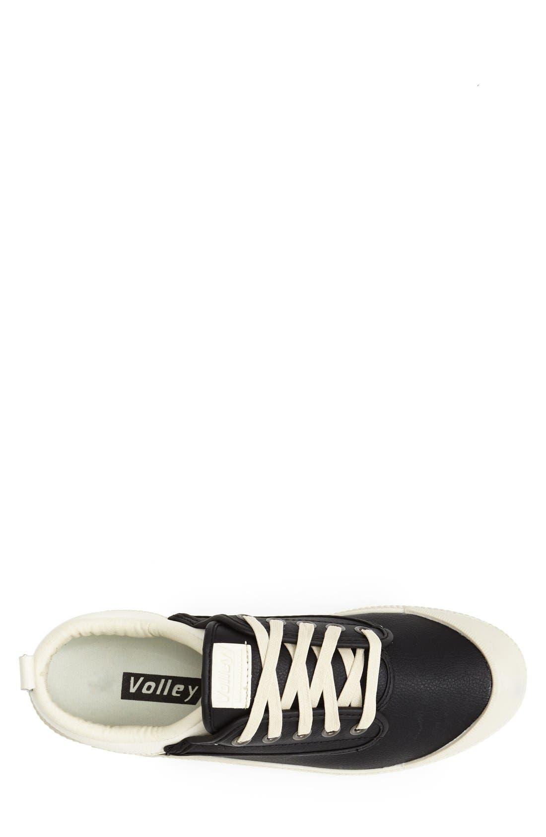 'International' Leather Sneaker,                             Alternate thumbnail 5, color,                             015