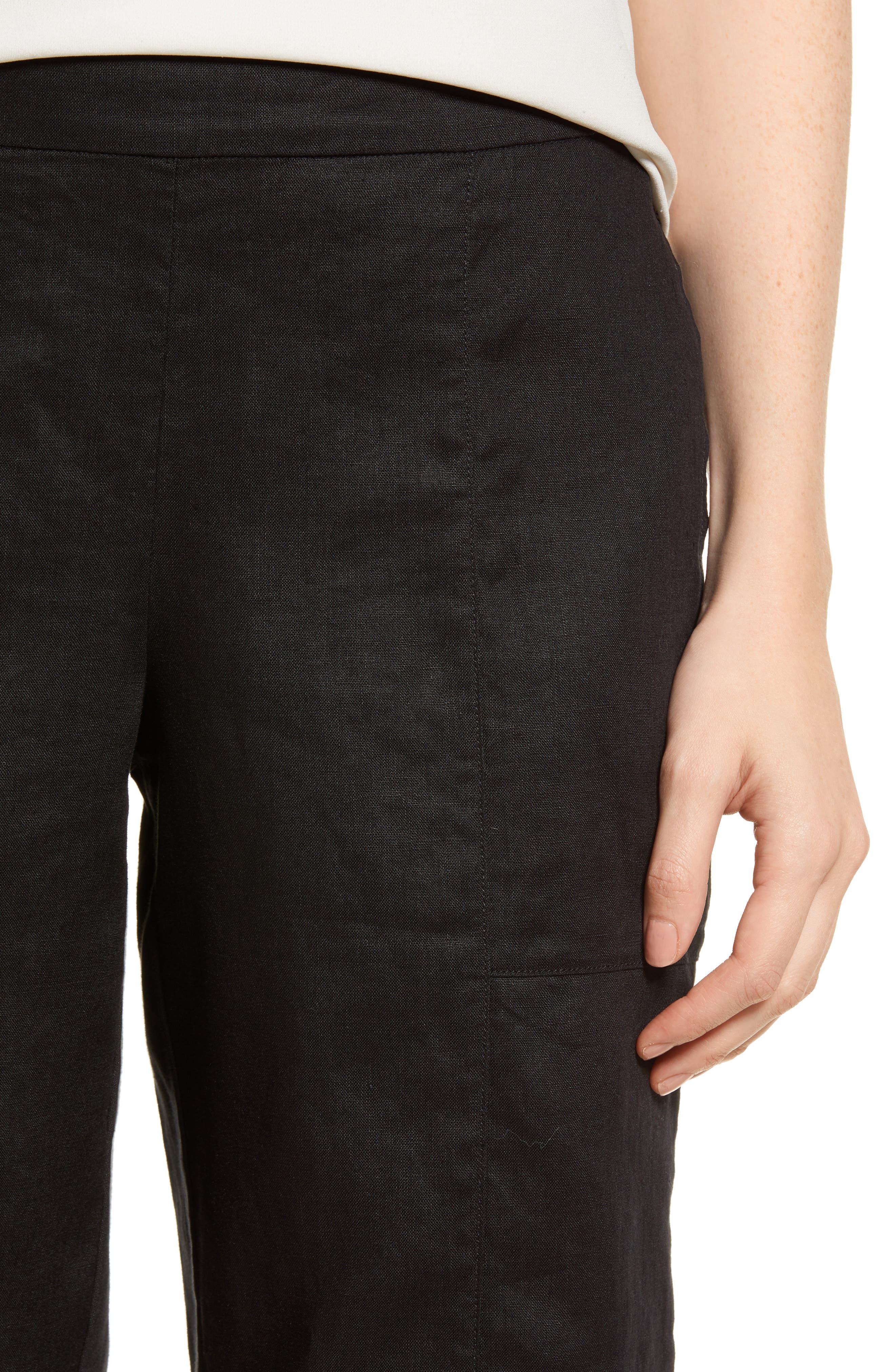 Organic Linen Crop Pants,                             Alternate thumbnail 14, color,