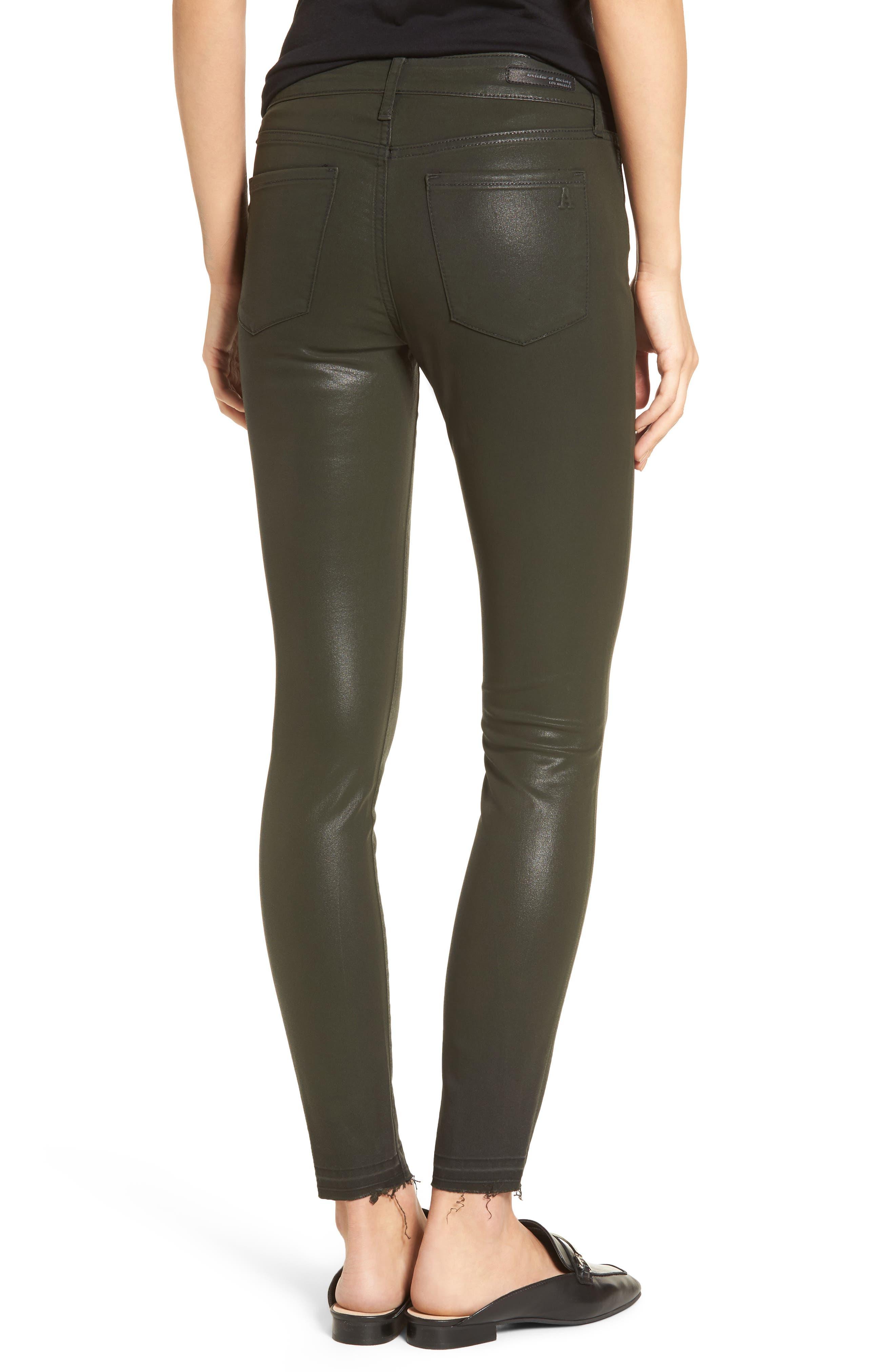 Sarah Coated Skinny Jeans,                             Alternate thumbnail 2, color,                             317
