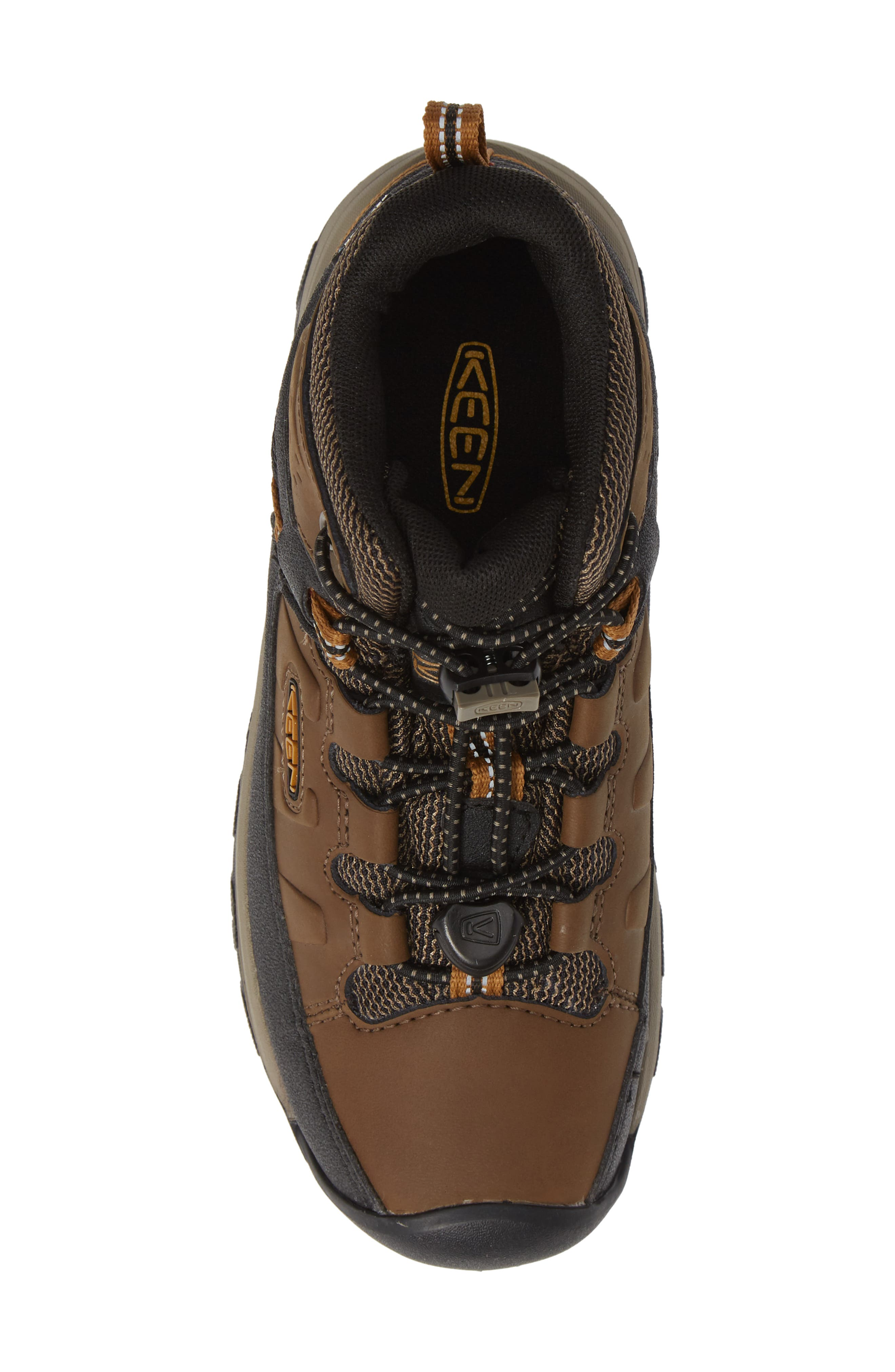 Targhee Mid Waterproof Hiking Boot,                             Alternate thumbnail 5, color,                             DARK EARTH/ GOLDEN BROWN