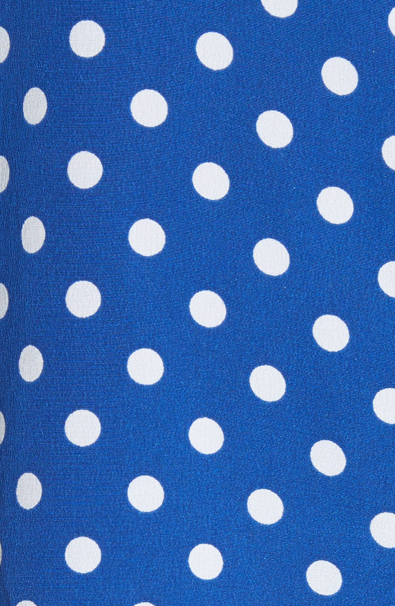 Brynn Polka Dot Silk Tee,                             Alternate thumbnail 5, color,                             472