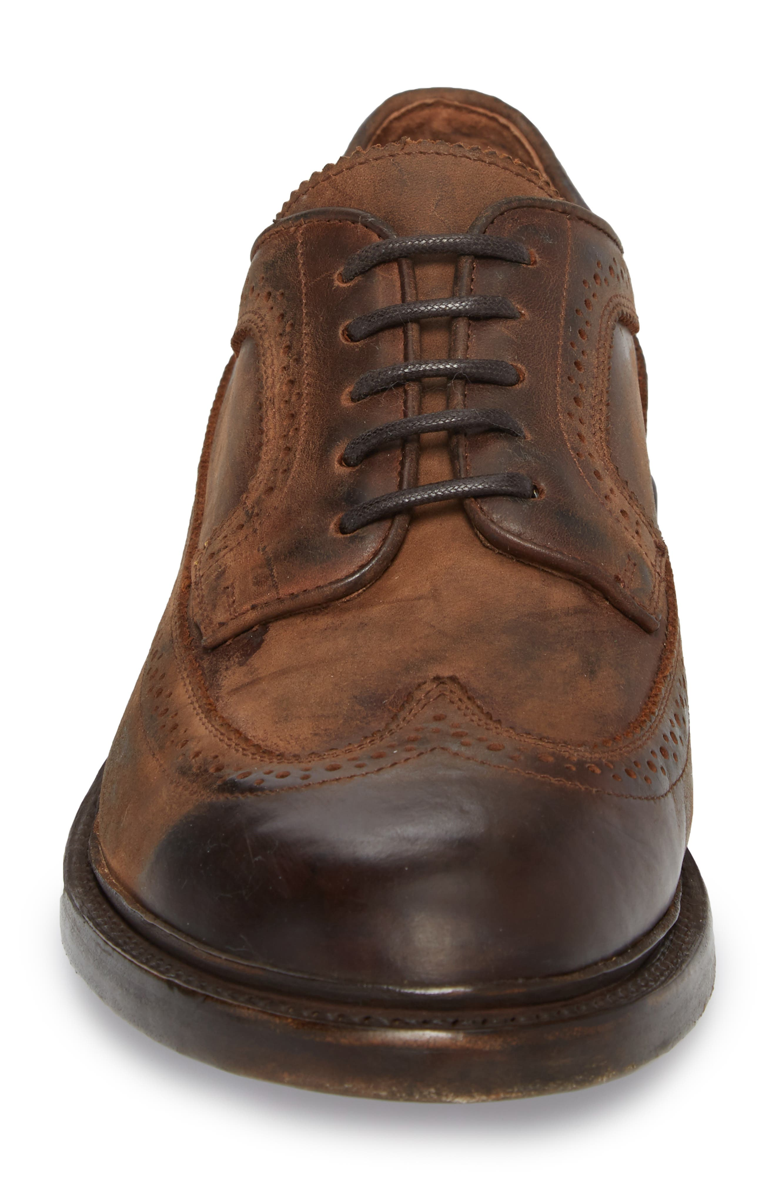 Jones Wingtip,                             Alternate thumbnail 4, color,                             REDWOOD LEATHER