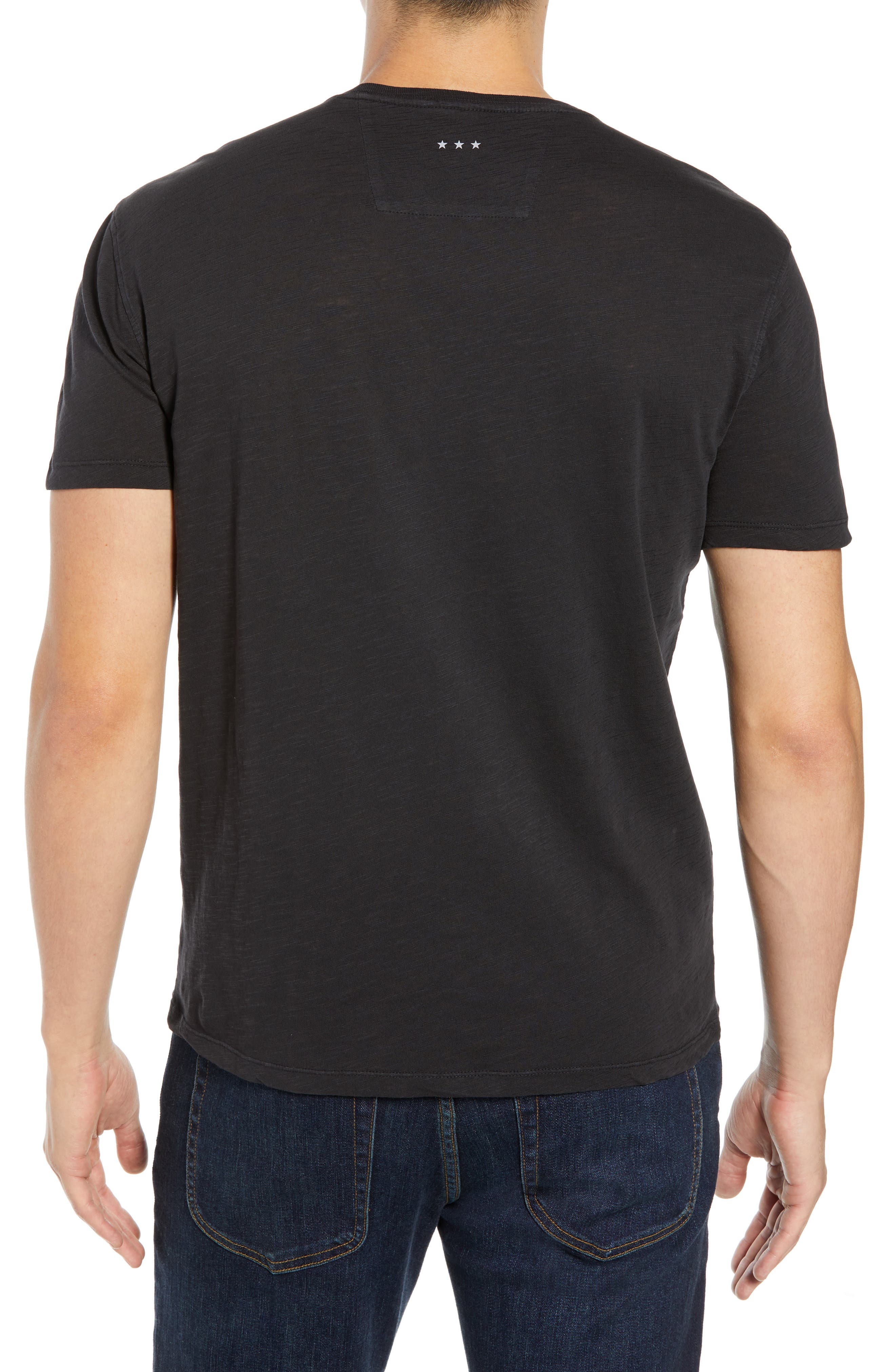 Embroidered Panther T-Shirt,                             Alternate thumbnail 2, color,                             BLACK
