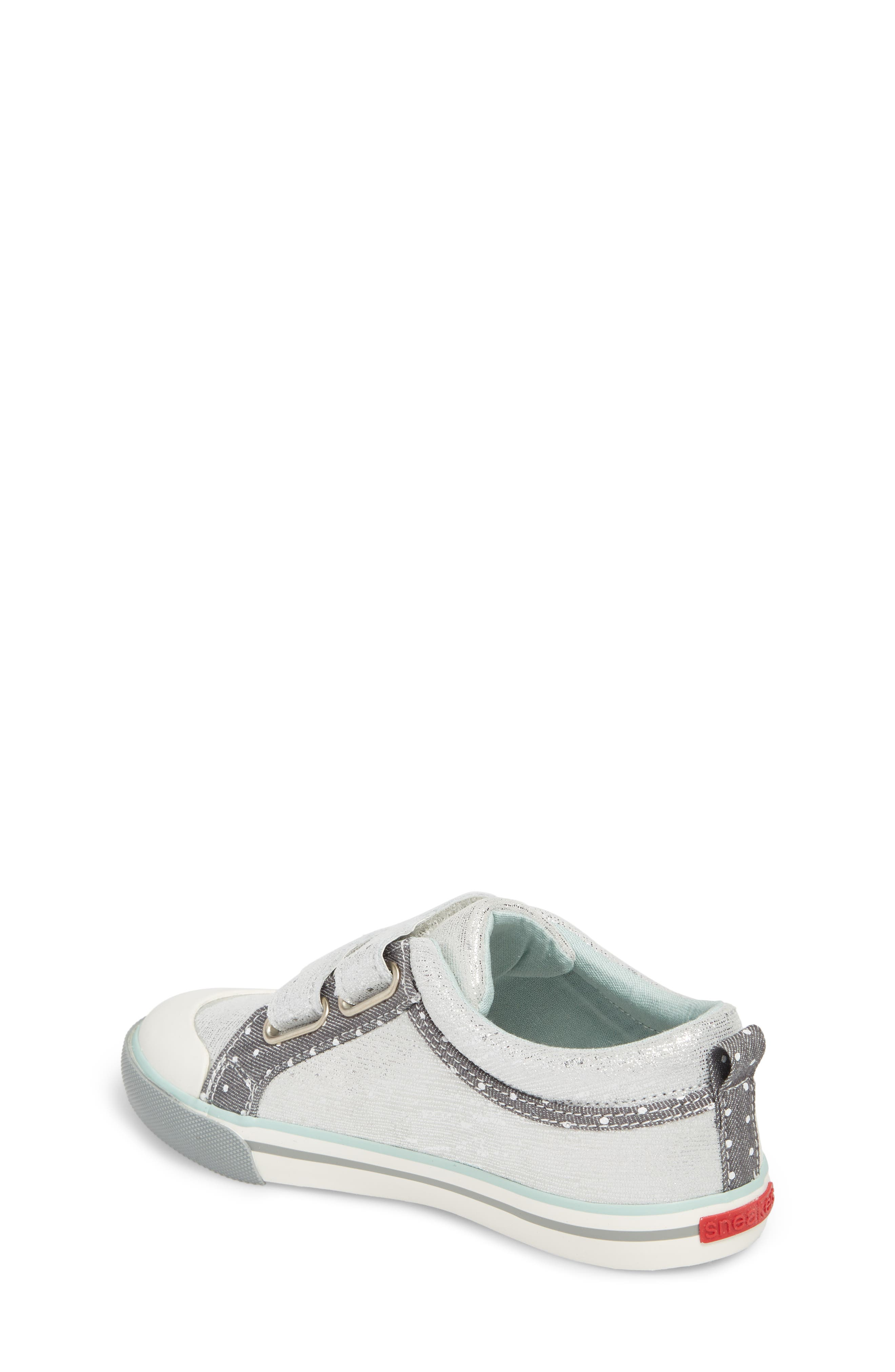 Robyne Sneaker,                             Alternate thumbnail 2, color,                             SILVER LEATHER