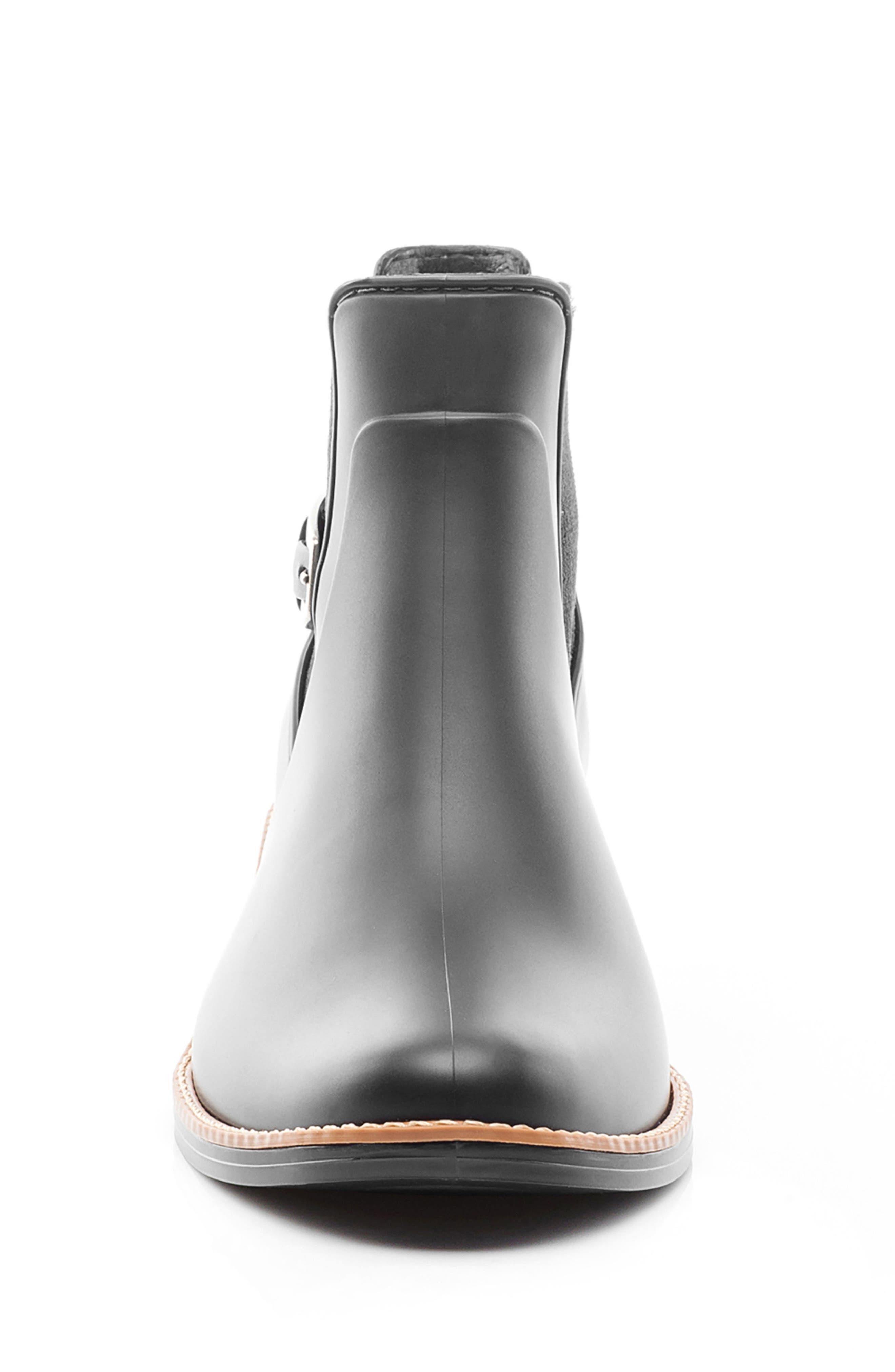 Pansie Rain Boot,                             Alternate thumbnail 4, color,                             001