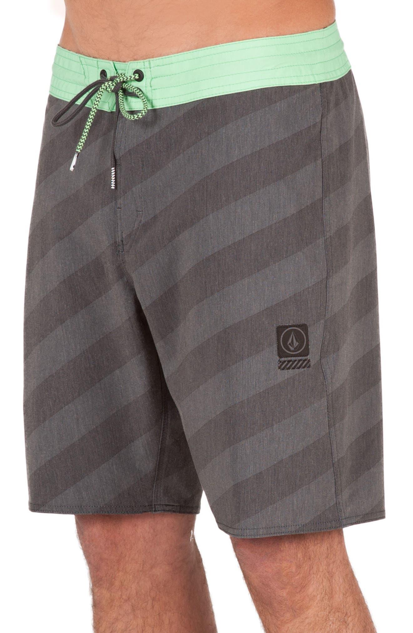 Stripey Slinger Board Shorts,                             Alternate thumbnail 19, color,