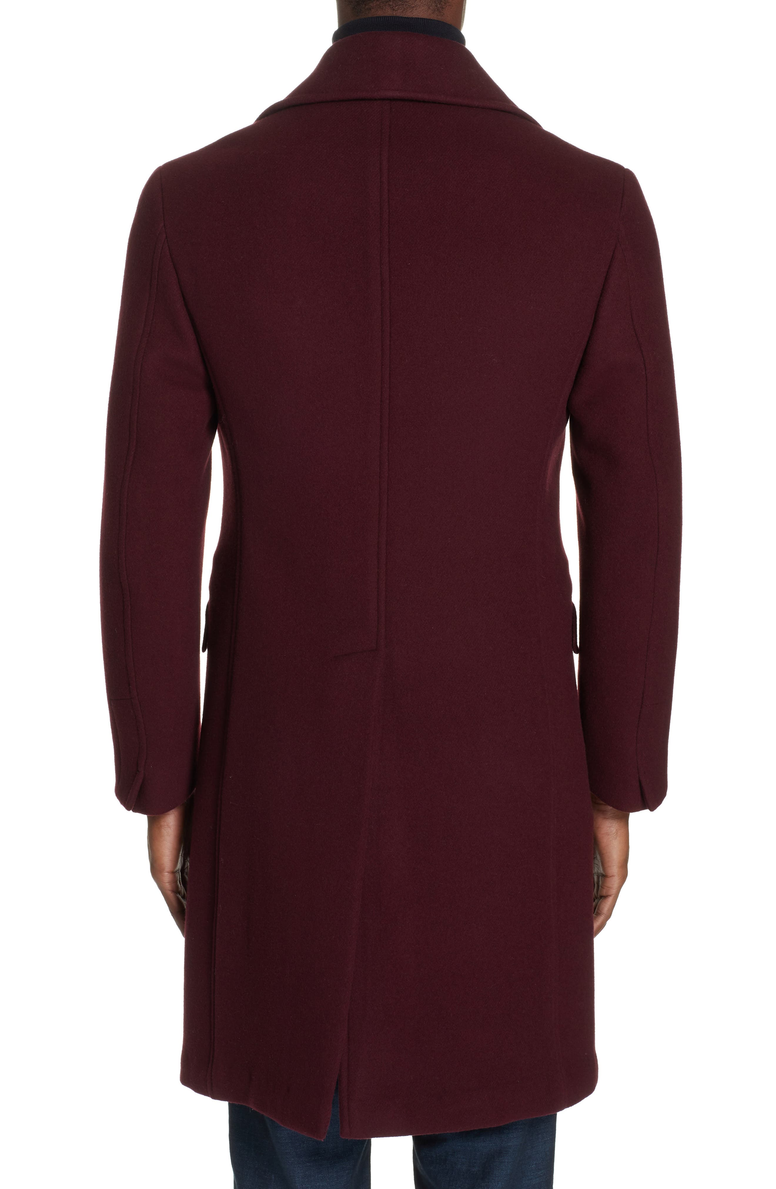 Double Breasted Wool & Cashmere Overcoat,                             Alternate thumbnail 2, color,                             930