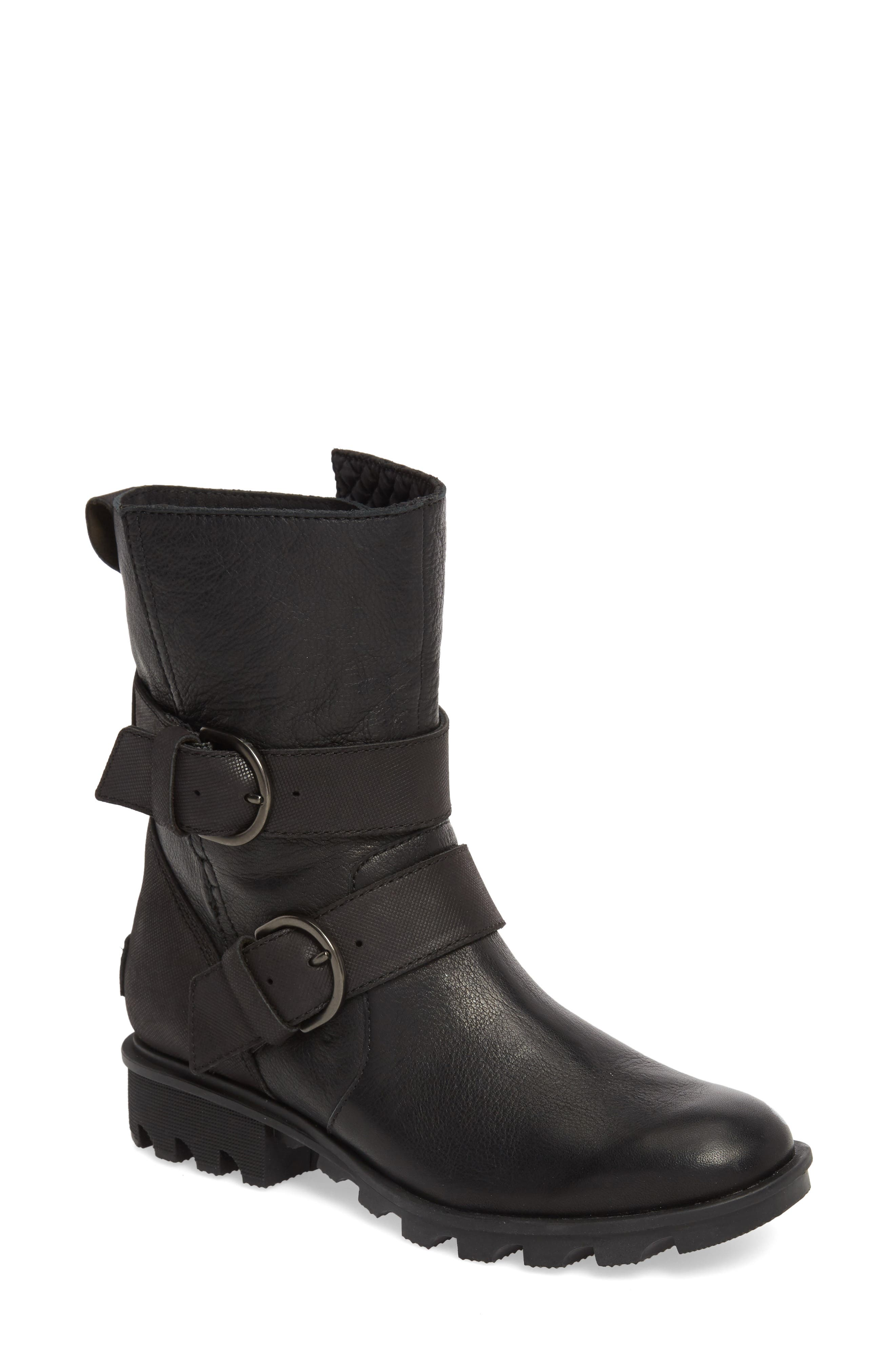 Sorel Phoenix Moto Waterproof Boot, Black