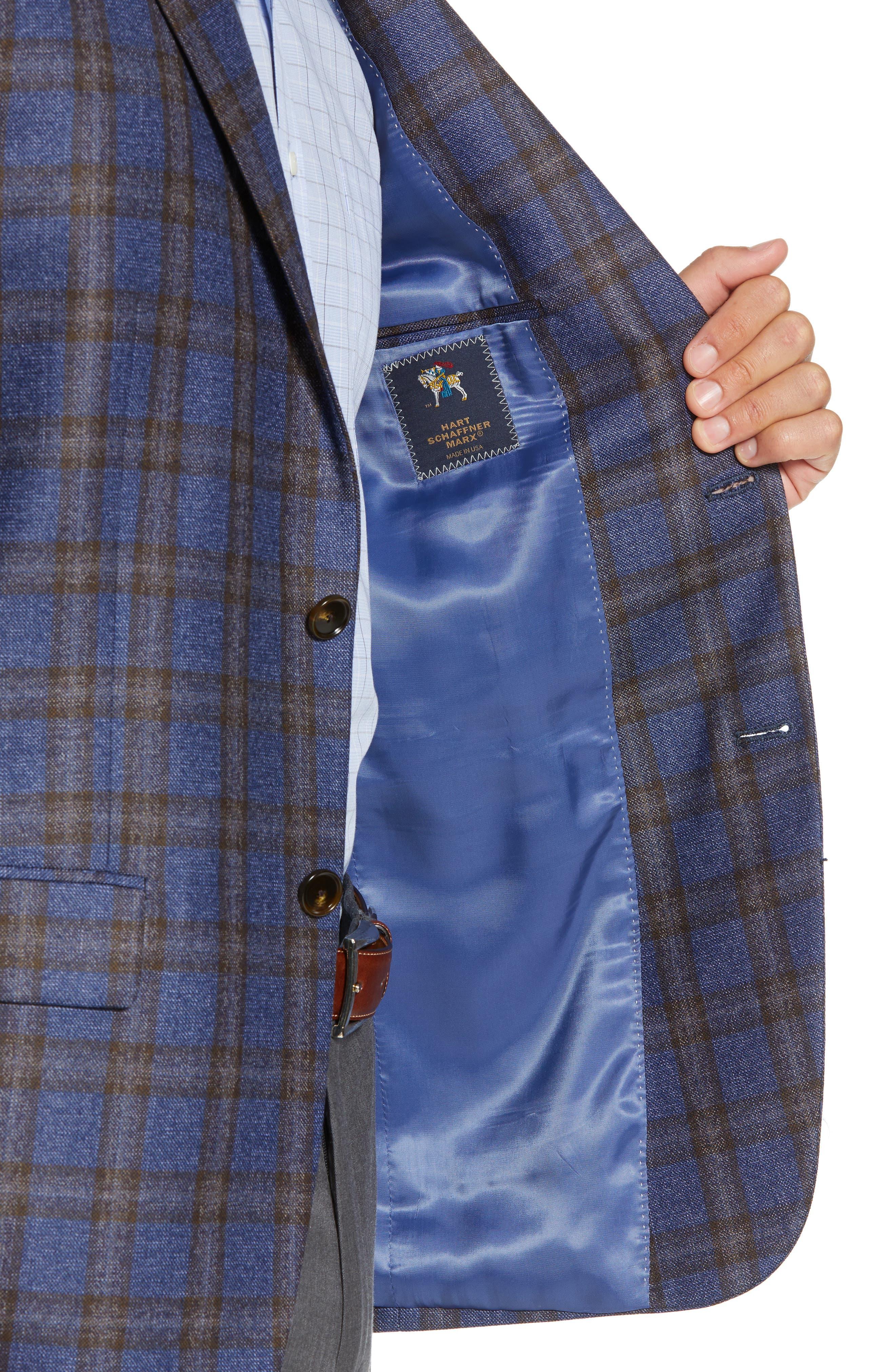 Classic Fit Plaid Wool Sport Coat,                             Alternate thumbnail 4, color,                             420