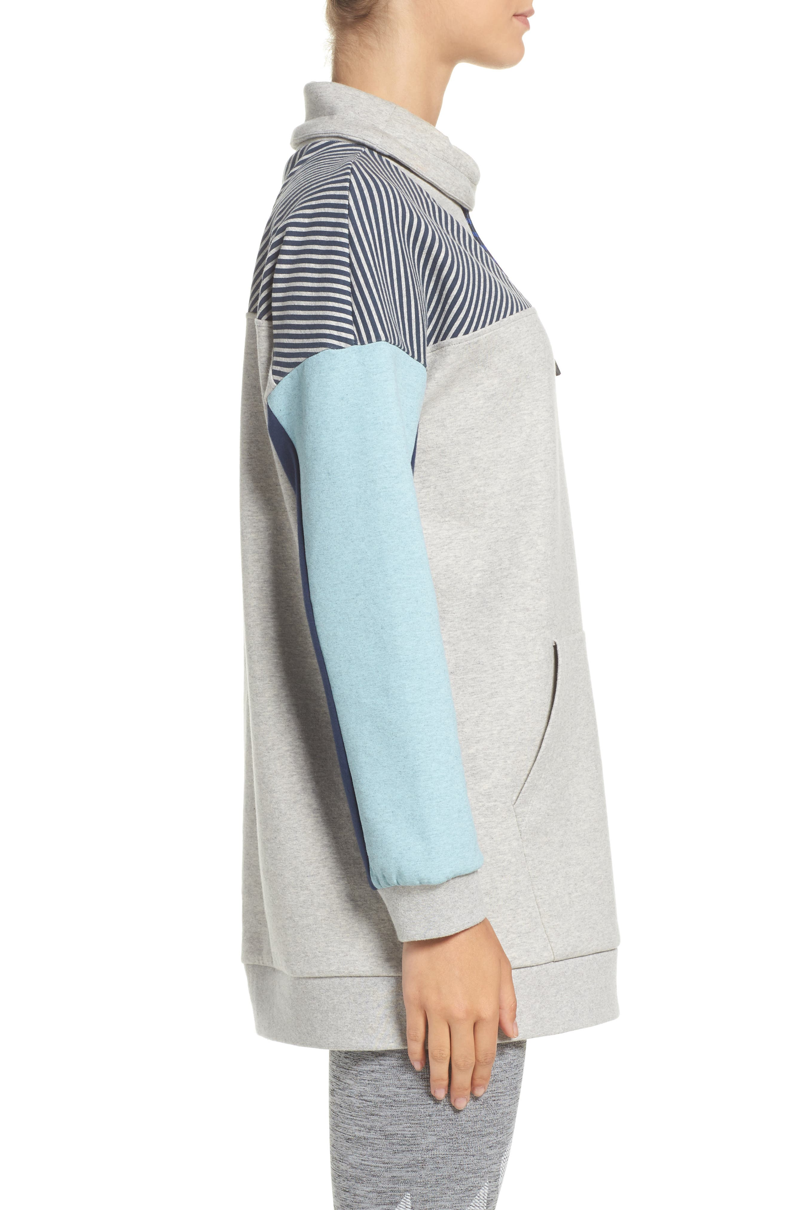 Noodie Funnel Neck Pullover,                             Alternate thumbnail 3, color,                             020