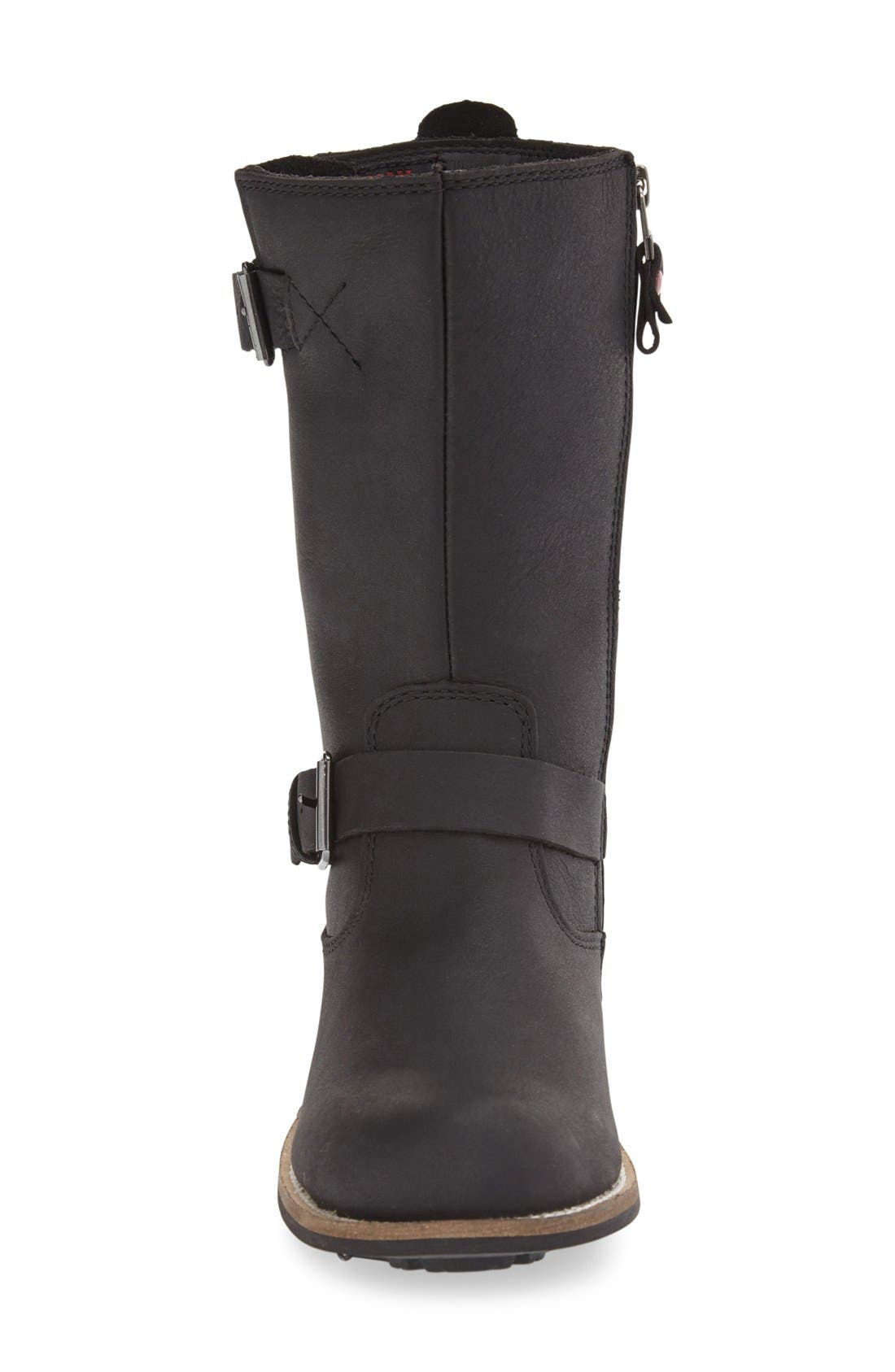 'Alcona' Waterproof Boot,                             Alternate thumbnail 4, color,                             BLACK LEATHER
