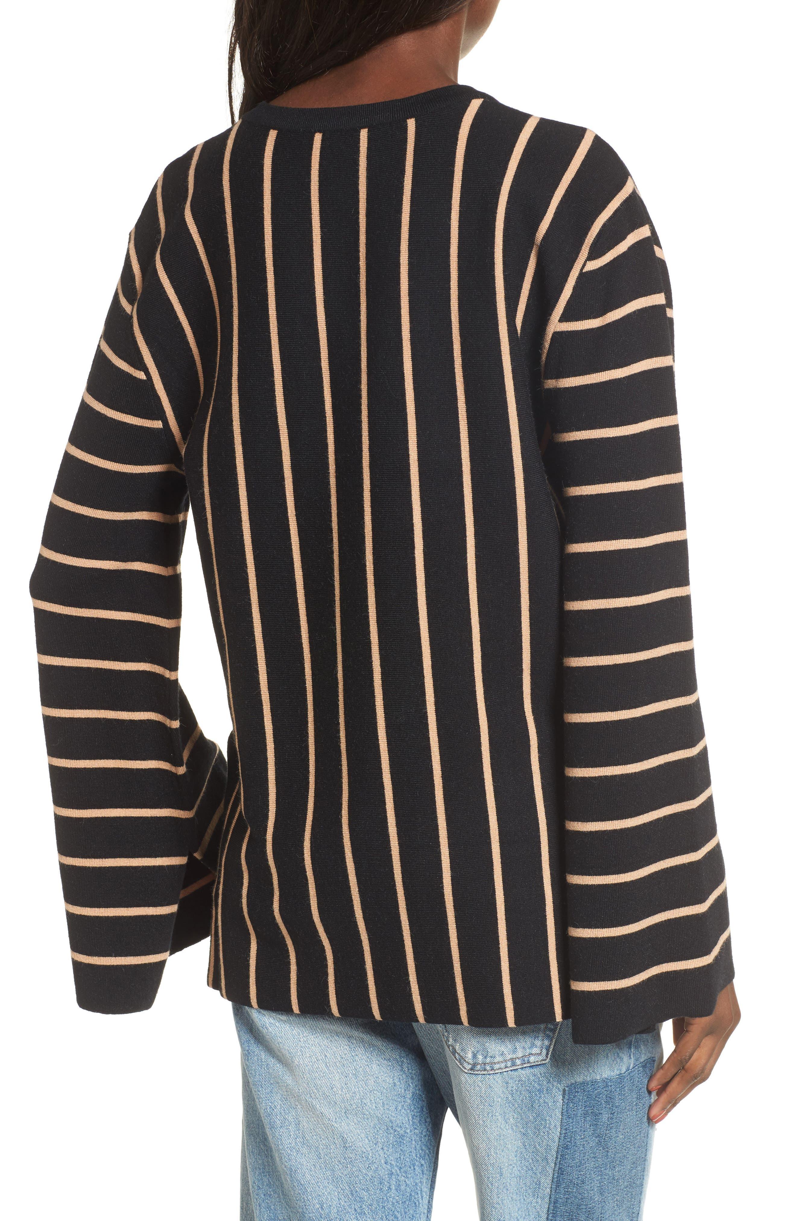 Split Cuff Sweater,                             Alternate thumbnail 2, color,                             001